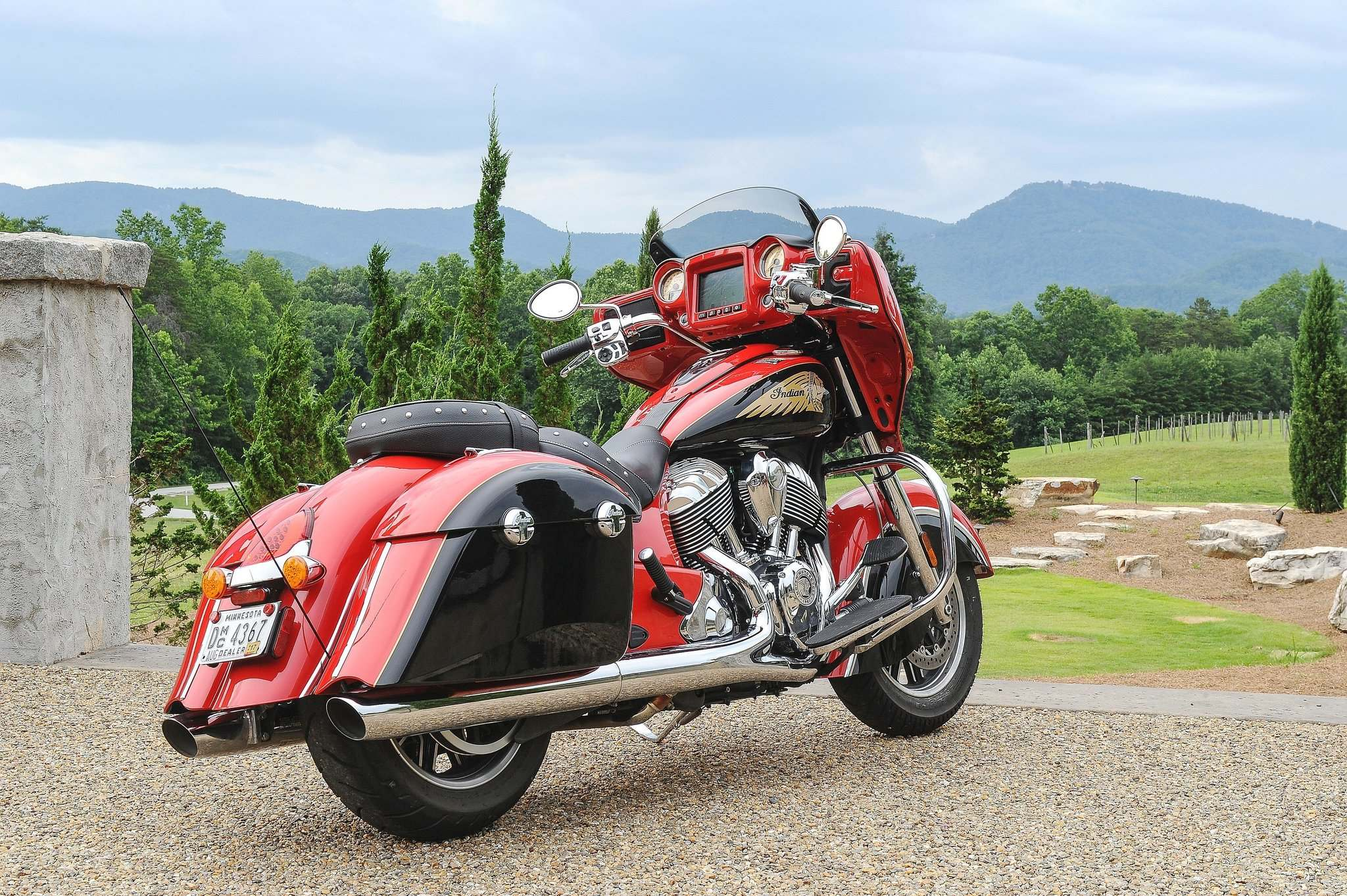 PHOTOS BY DAVID BOOTH / POSTMEDIA NETWORK INC.The 2017 Indian Chieftain has the look of a vintage motorcycle blended with modern performance and comfort features.