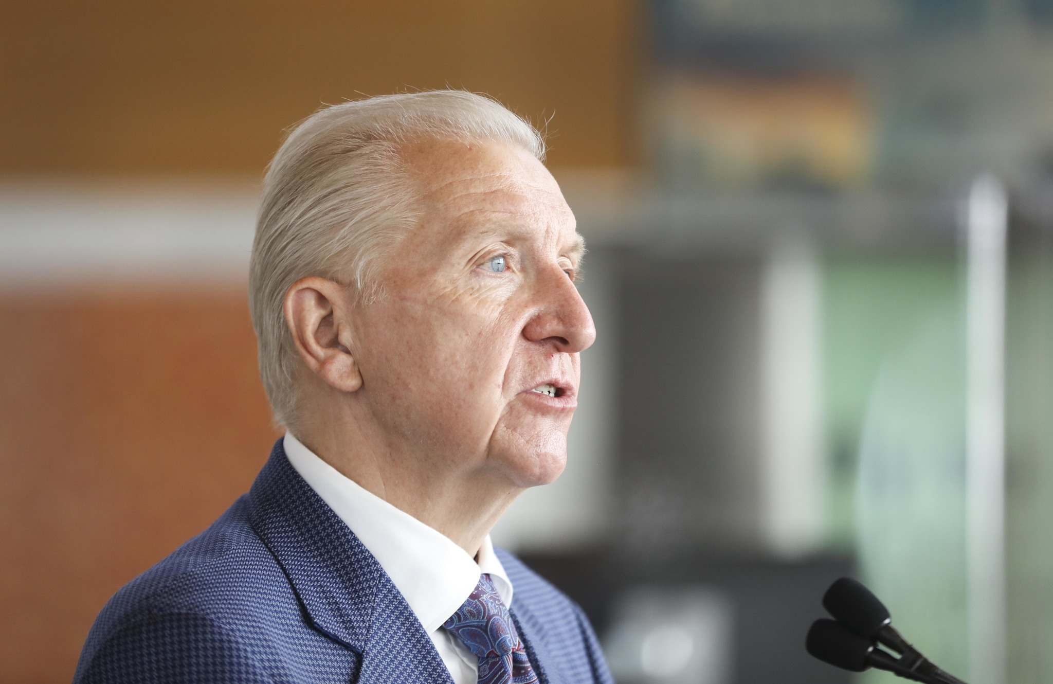 The outlook at the airport is positive for the first time in months, says Barry Rempel, president and CEO of the Winnipeg Airports Authority. (Ruth Bonneville / Winnipeg Free Press)