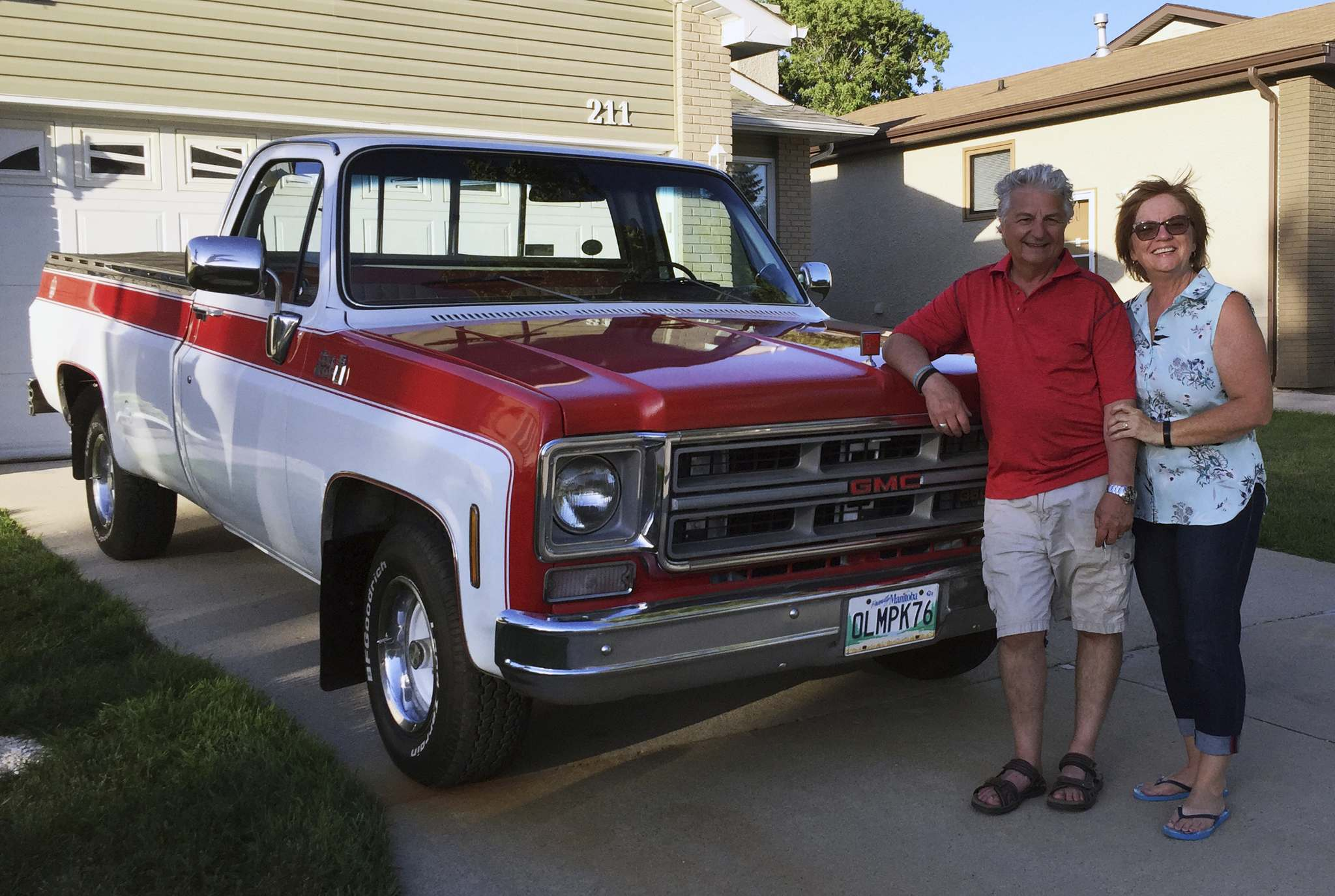 Supplied</p><p>Norbert and Giselle Collette with the truck before it was shipped to Oklahoma.</p>