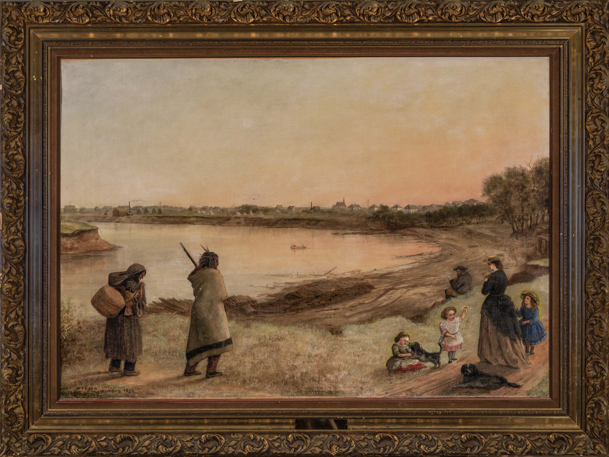 Ernest Mayer, courtesy of the Winnipeg Art Gallery</p><p>W. Frank Lynn's Two Families (1872) oil on canvas. At the time of the treaty signing, tensions over land use were high between newcomers and First Nations.</p>
