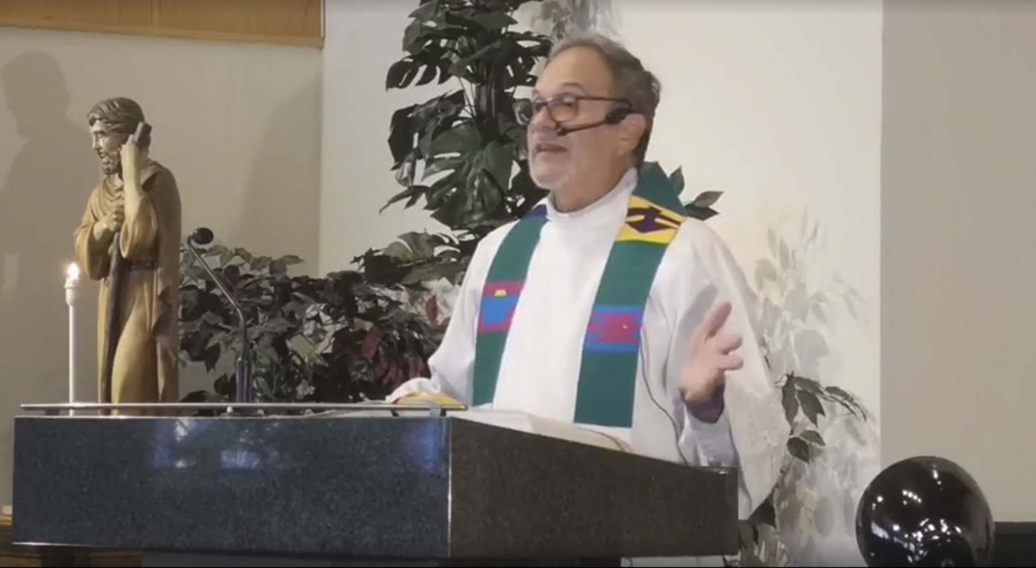 Father Rhéal Forest's recently used a sermon to say that residential school survivors lied to get settlement money. (FACEBOOK)