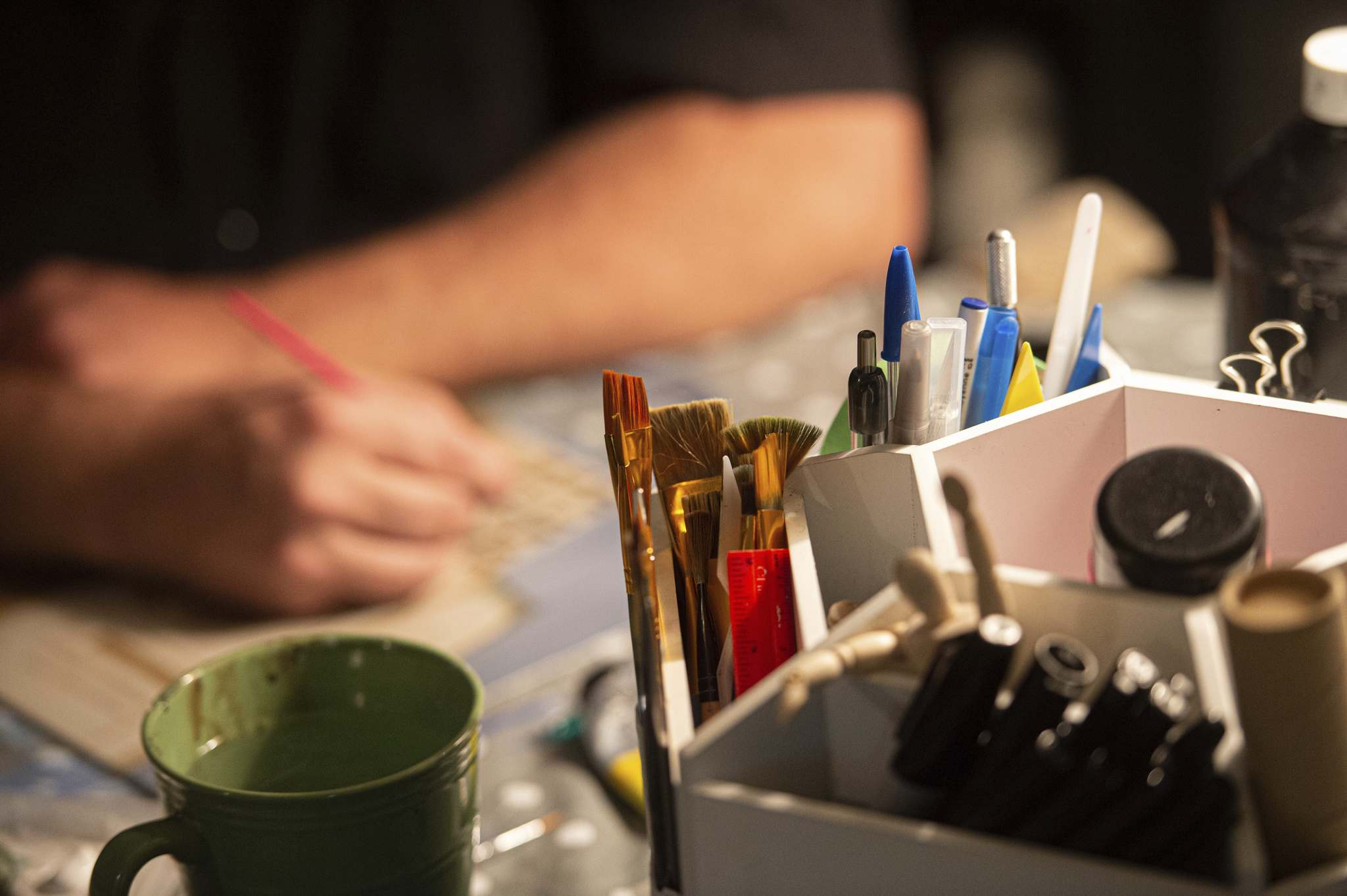 Hodgert picked up paint brushes amid the pandemic. (Mike Sudoma / Winnipeg Free Press)</p>