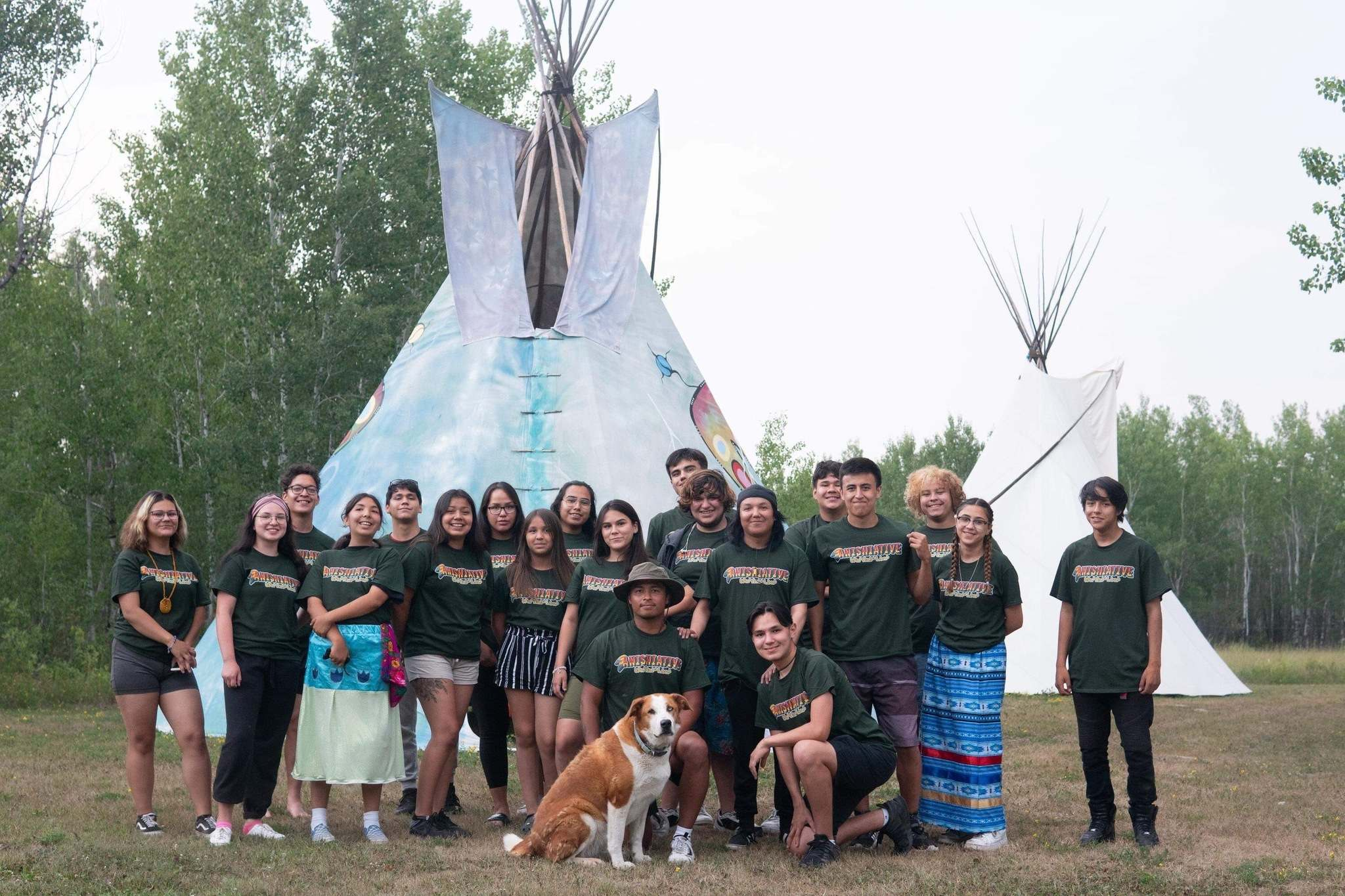 Rylee Nepinak and his brother River led Anishiative's first land-based leadership camp for youth over three days at Cedar Lake. (Supplied)</p></p>