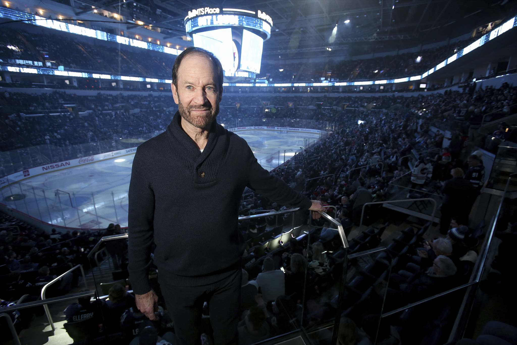 Tom Morrissey was at Bell MTS Place in December 2019 to watch his son Josh play against the Chicago Blackhawks.