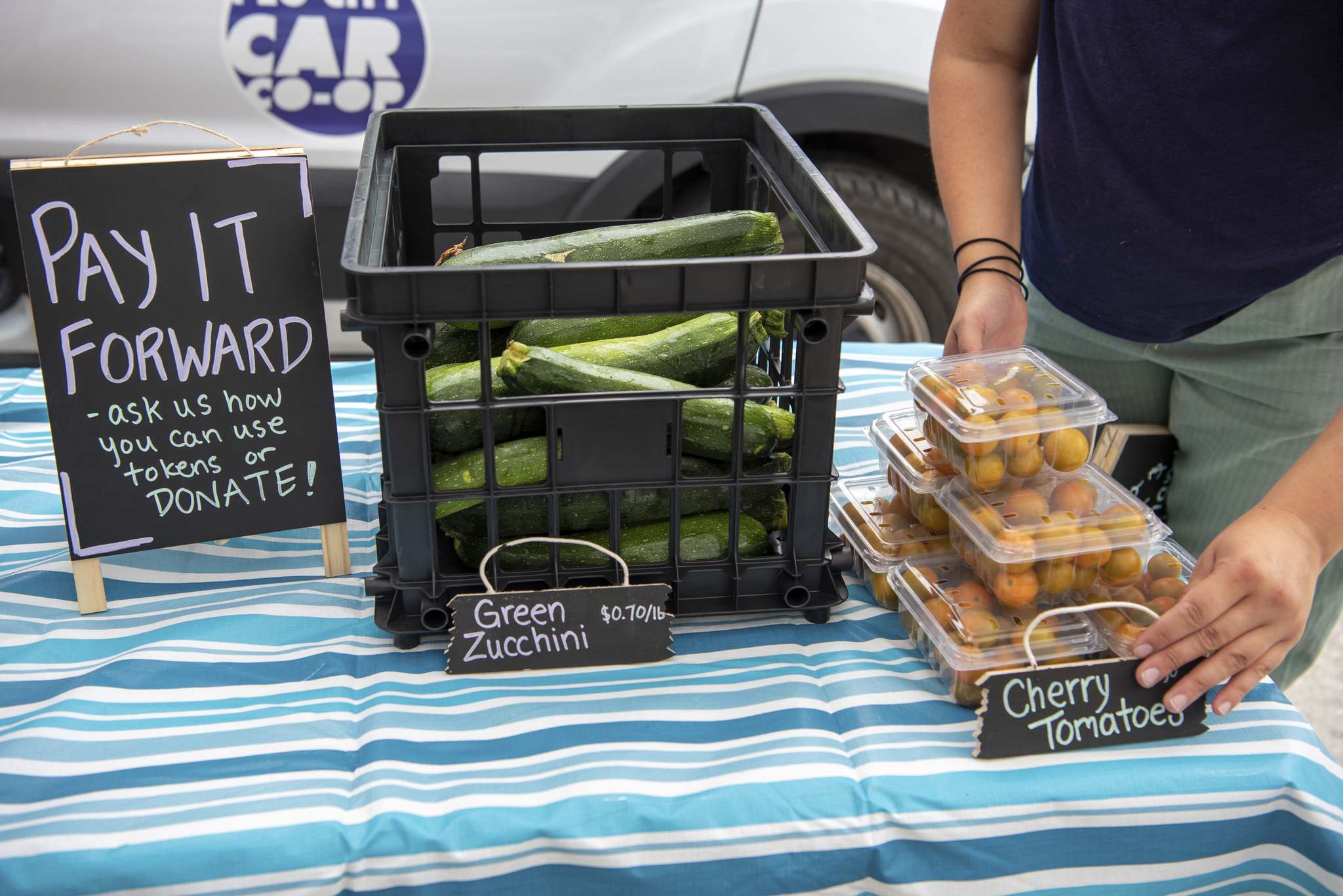 Veggie Van pays full price to farmers and then uses donations and sponsorship to cut end-user prices by at least 50 per cent.</p>