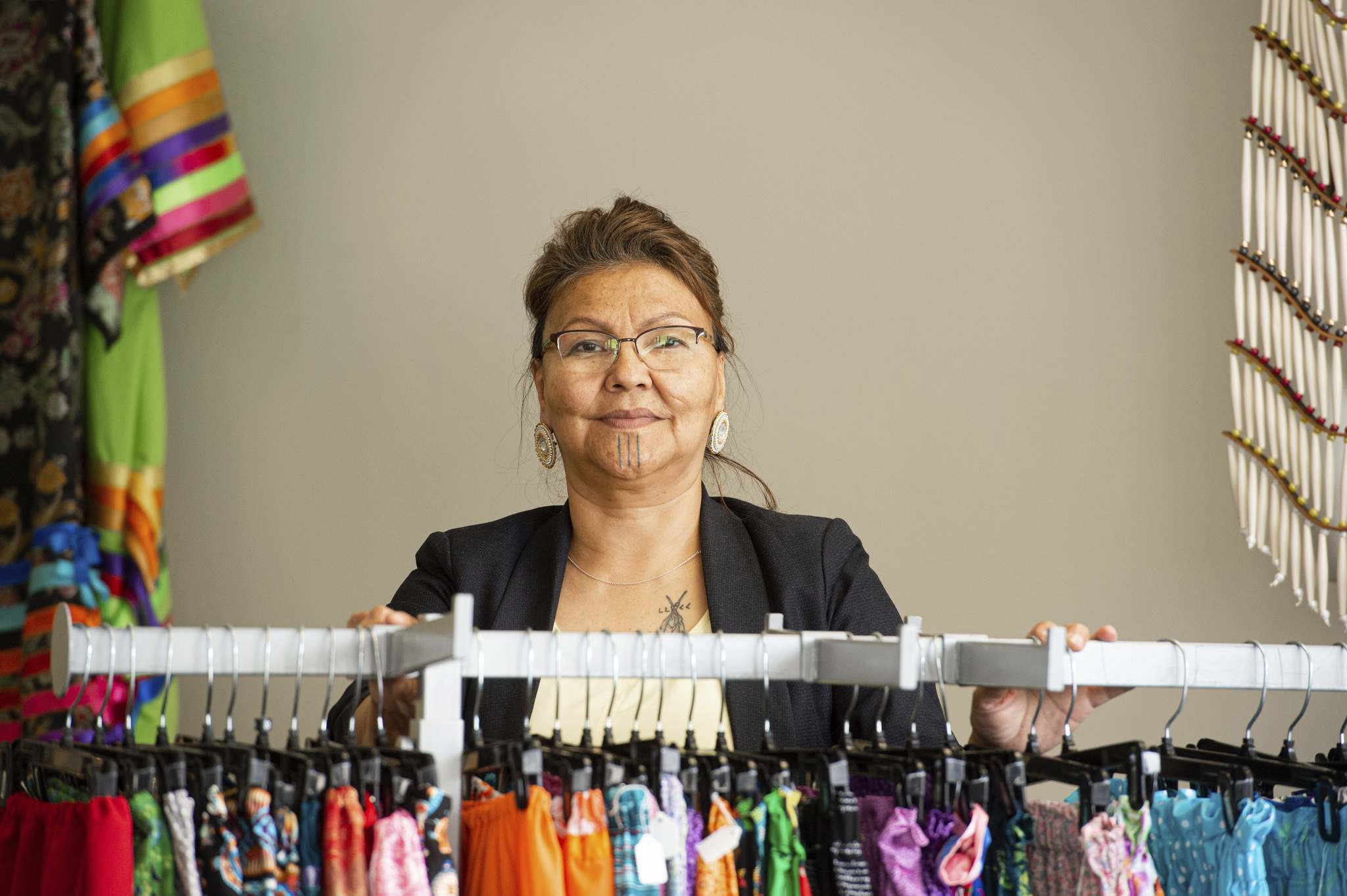 Tawipisim says there's a resurgence of Indigenous people wanting to honour their culture. (Mike Sudoma / Winnipeg Free Press)</p>