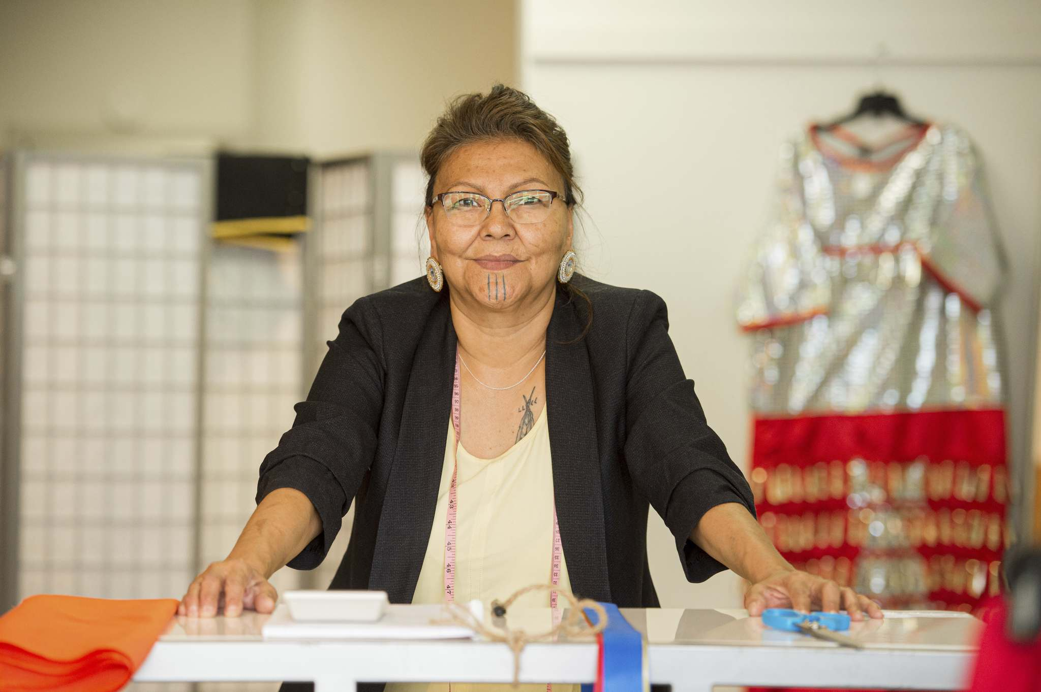 Tawipisim built up the stock for her store during the pandemic, when powwows were all postponed. (Mike Sudoma / Winnipeg Free Press)</p>