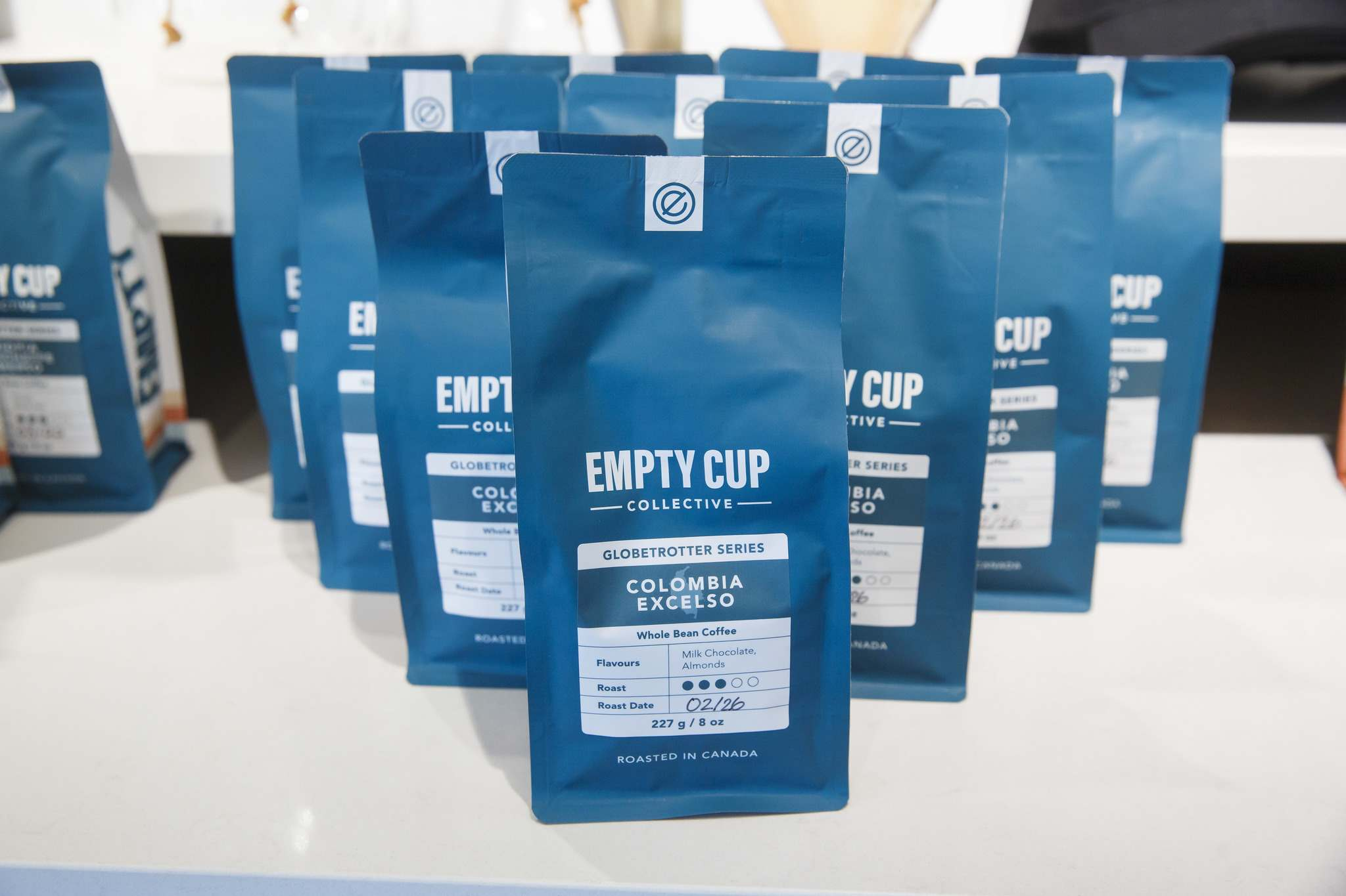 MIKE DEAL / WINNIPEG FREE PRESS</p><p>Bags of coffee for sale at Empty Cup Collective.</p>