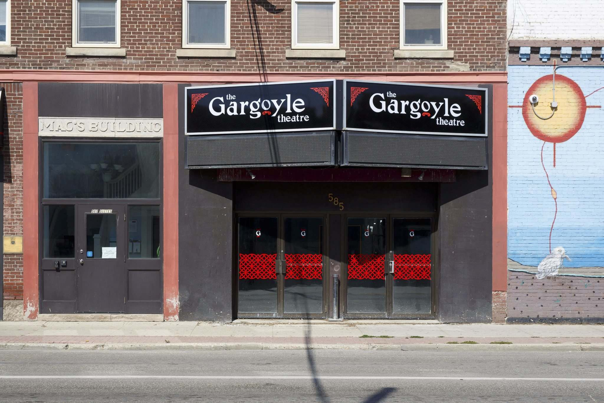 MIKE DEAL / WINNIPEG FREE PRESS</p><p>The former Ellice Theatre at 585 Ellice Ave. is now the Gargoyle.</p>