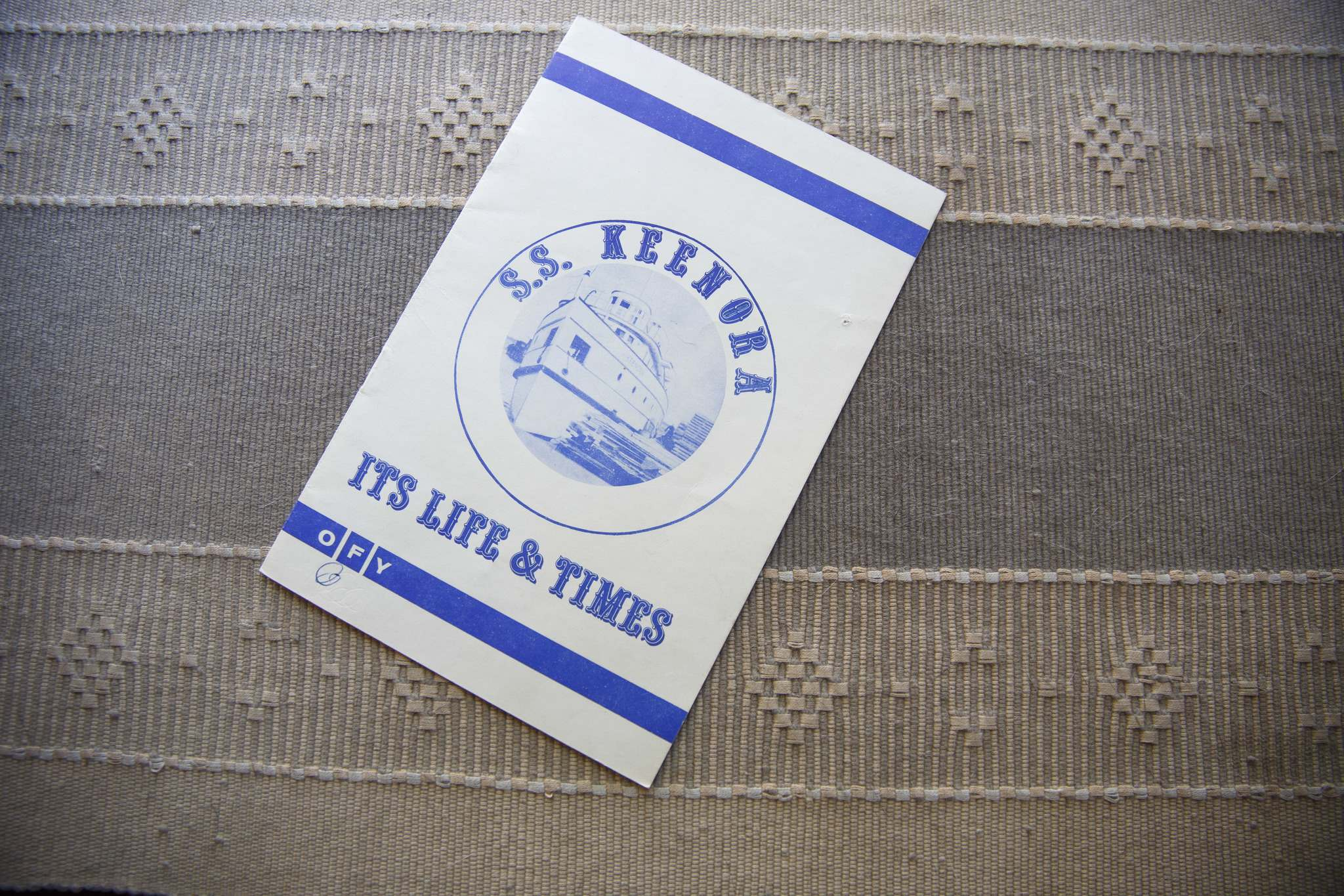 The S.S. Keenora booklet.