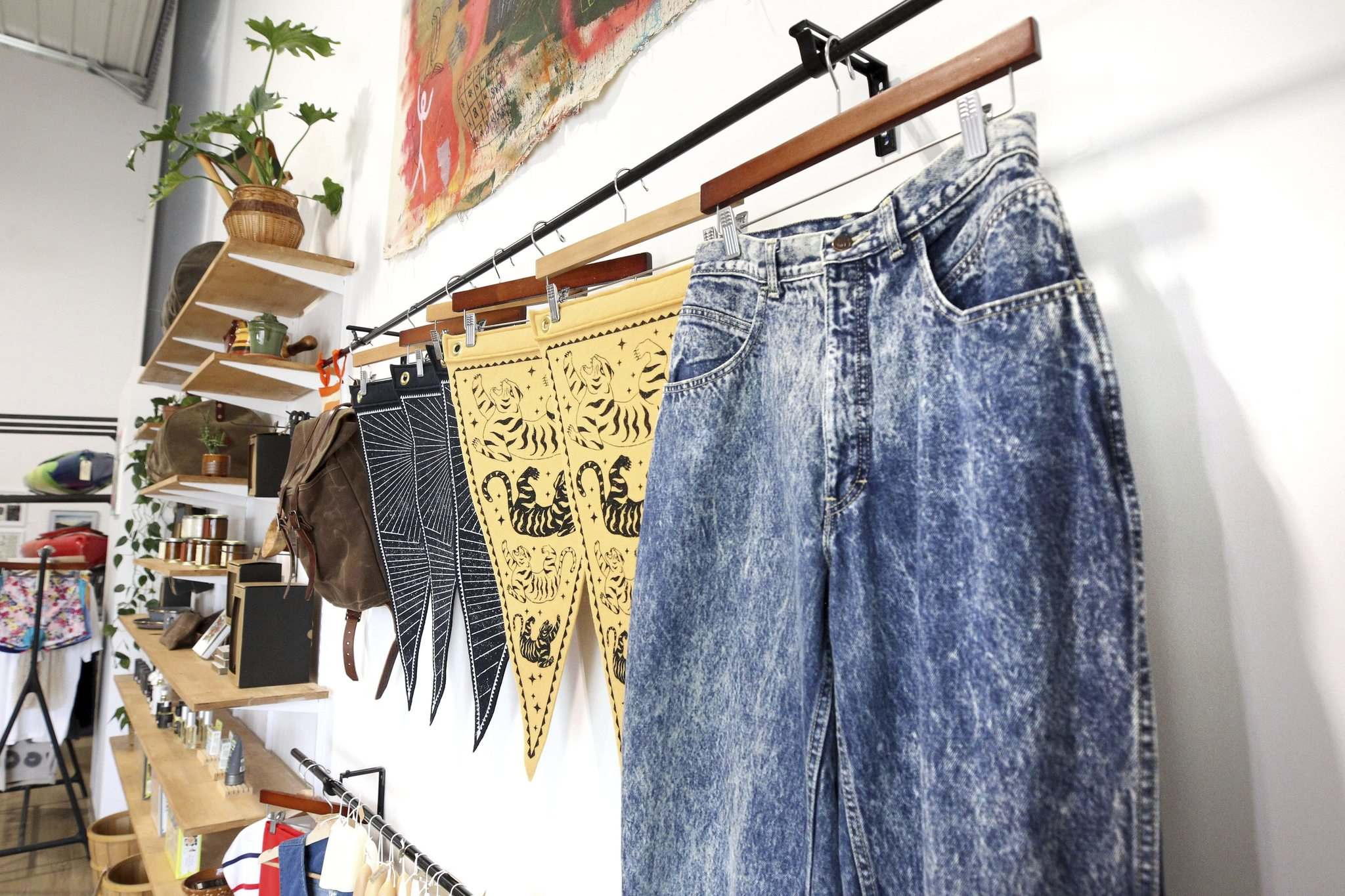 Retro clothing along with hand-printed items and locally made wares. (Ruth Bonneville / Winnipeg Free Press)</p>