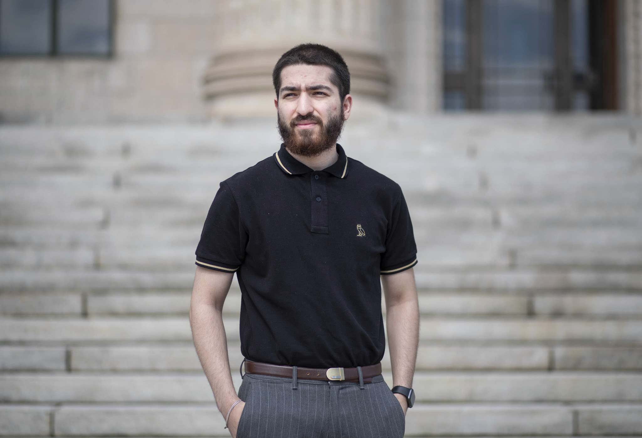 Bashir Faqiri, 21, was born in Pakistan; he and his family moved to Winnipeg when he was a year old. (Jessica Lee / Winnipeg Free Press)</p>