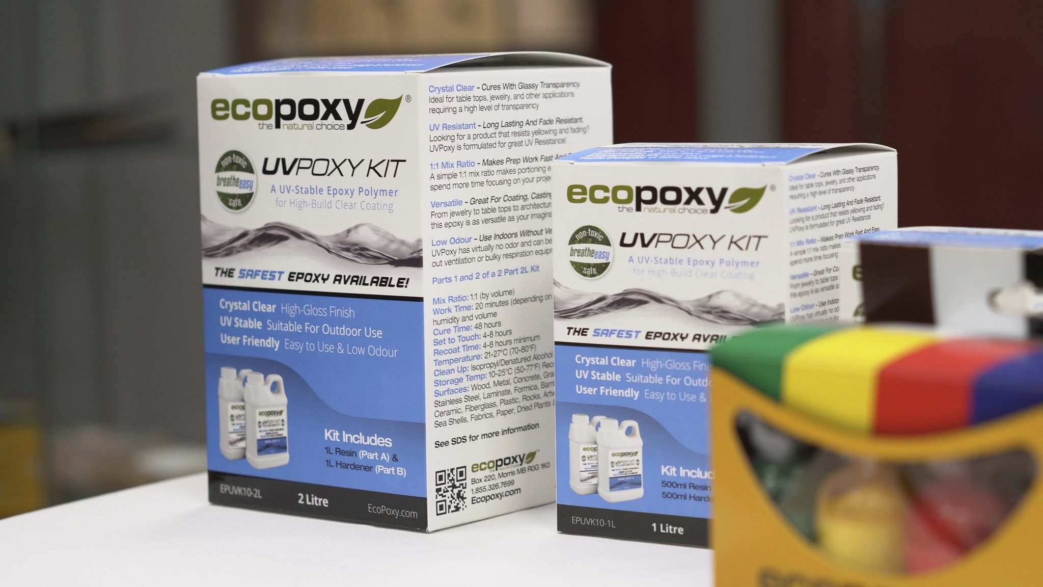 EcoPoxy's coating and casting epoxies are being shipped around the world.</p>