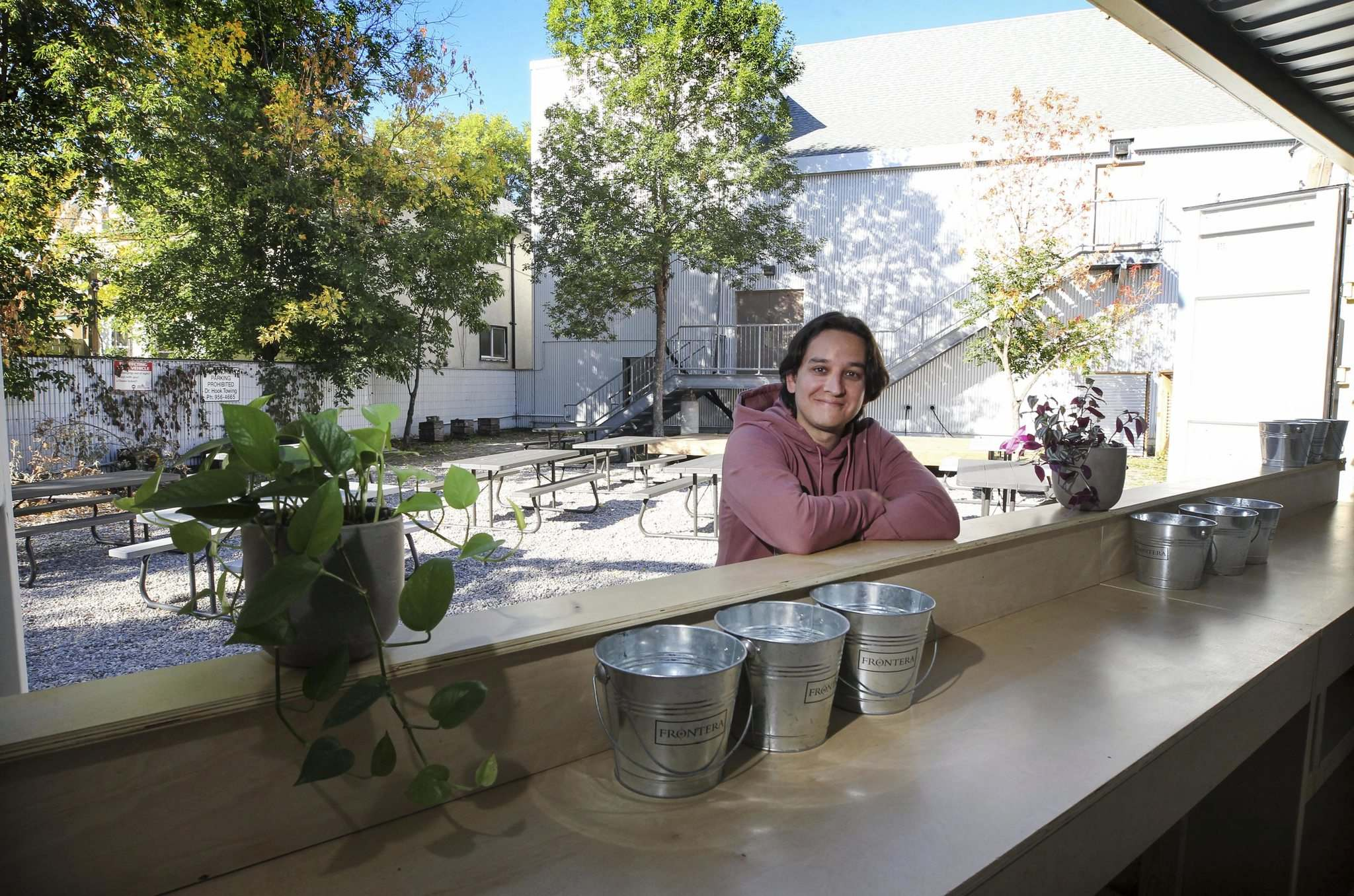 The WECC's community focus sets it apart from other pop-up bars, says artistic director Jorge Requena Ramos. (Ruth Bonneville / Winnipeg Free Press)