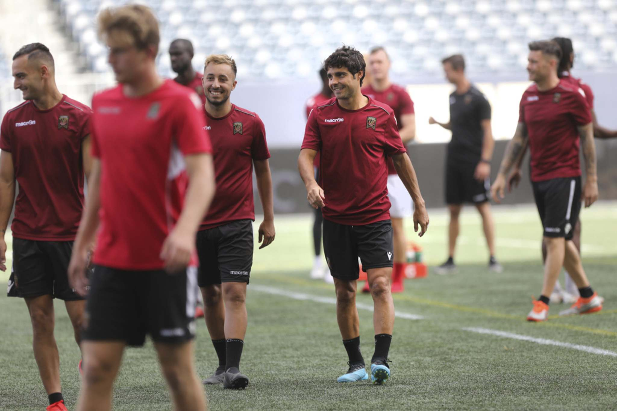 RUTH BONNEVILLE / WINNIPEG FREE PRESS FILES</p><p>Valour FC midfielder Jose Galan, centre, is one of several injured players that's on the mend and could return to action shortly.</p>