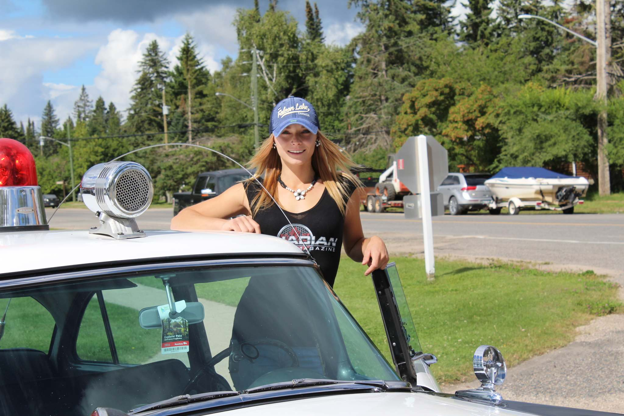 """Steph """"Hammer Down"""" Custance from Ice Road Truckers."""