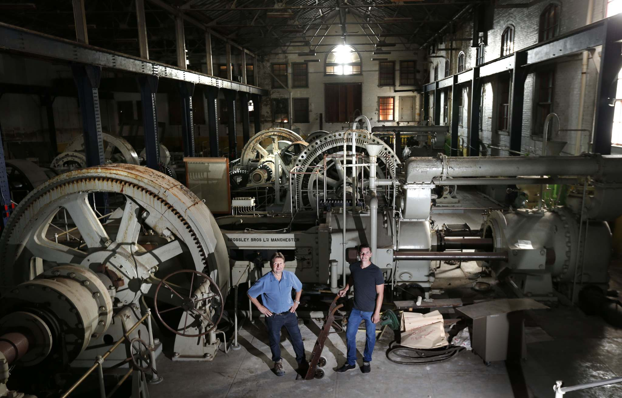WAYNE GLOWACKI / WINNIPEG FREE PRESS</p><p>Bryce Alston (left) and Rick Hofer plan to convert the James Avenue pumping station into a residential-retail-office complex.</p></p>
