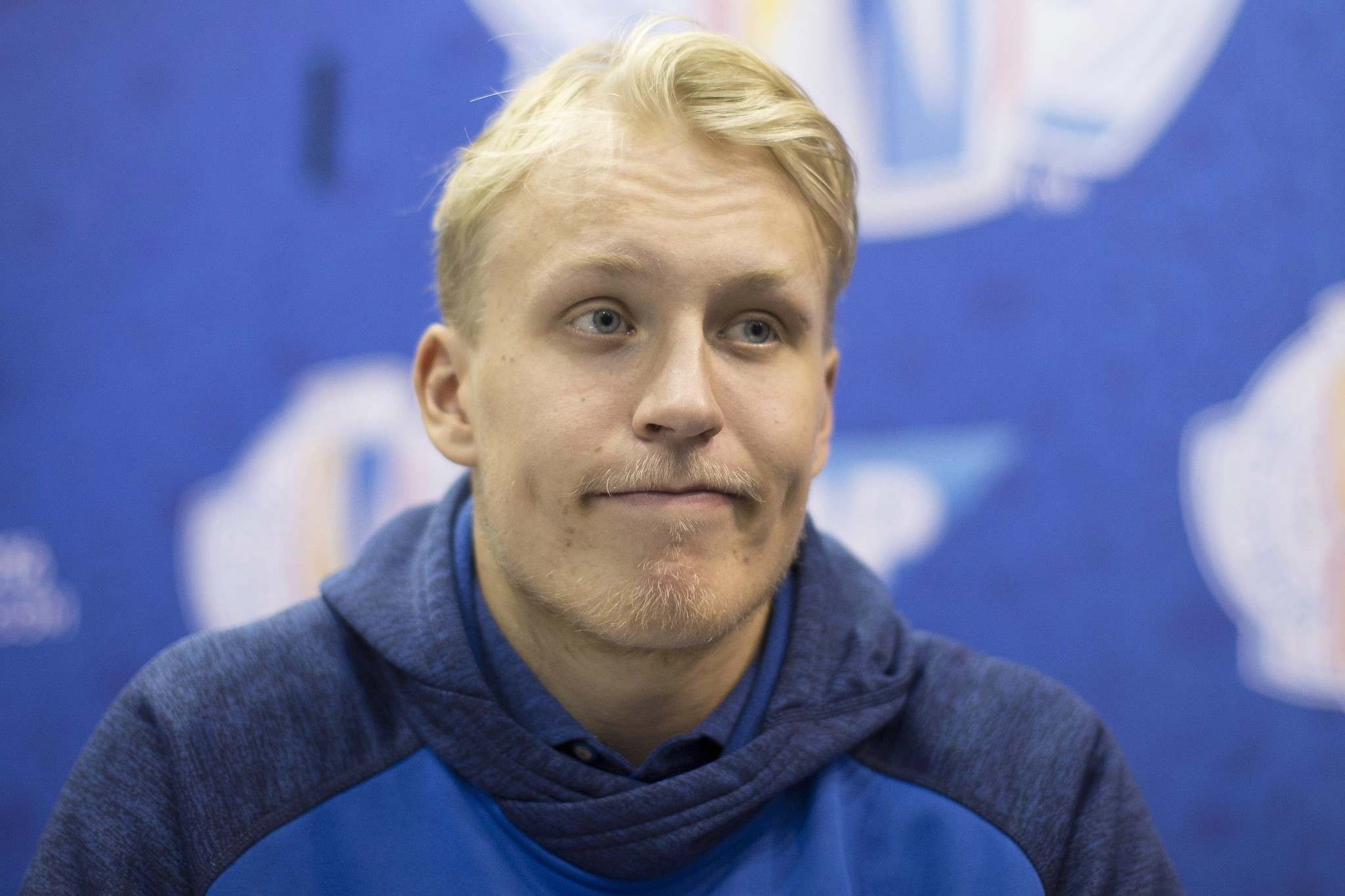 Chris Young / The Canadian Press</p><p>Finland's Patrik Laine of Winnipeg Jets attends a media availability in Toronto.</p>