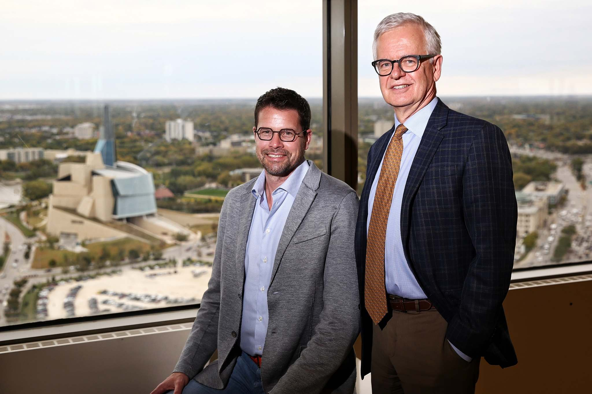 MIKE DEAL / WINNIPEG FREE PRESS</p><p>David Filmon and Herb Peters of Aikins, MacAulay &amp; Thorvaldson LLP in Winnipeg have announced a merger with Saskatchewan&rsquo;s largest full-service firm, MacPherson Leslie &amp; Tyerman LLP.</p>