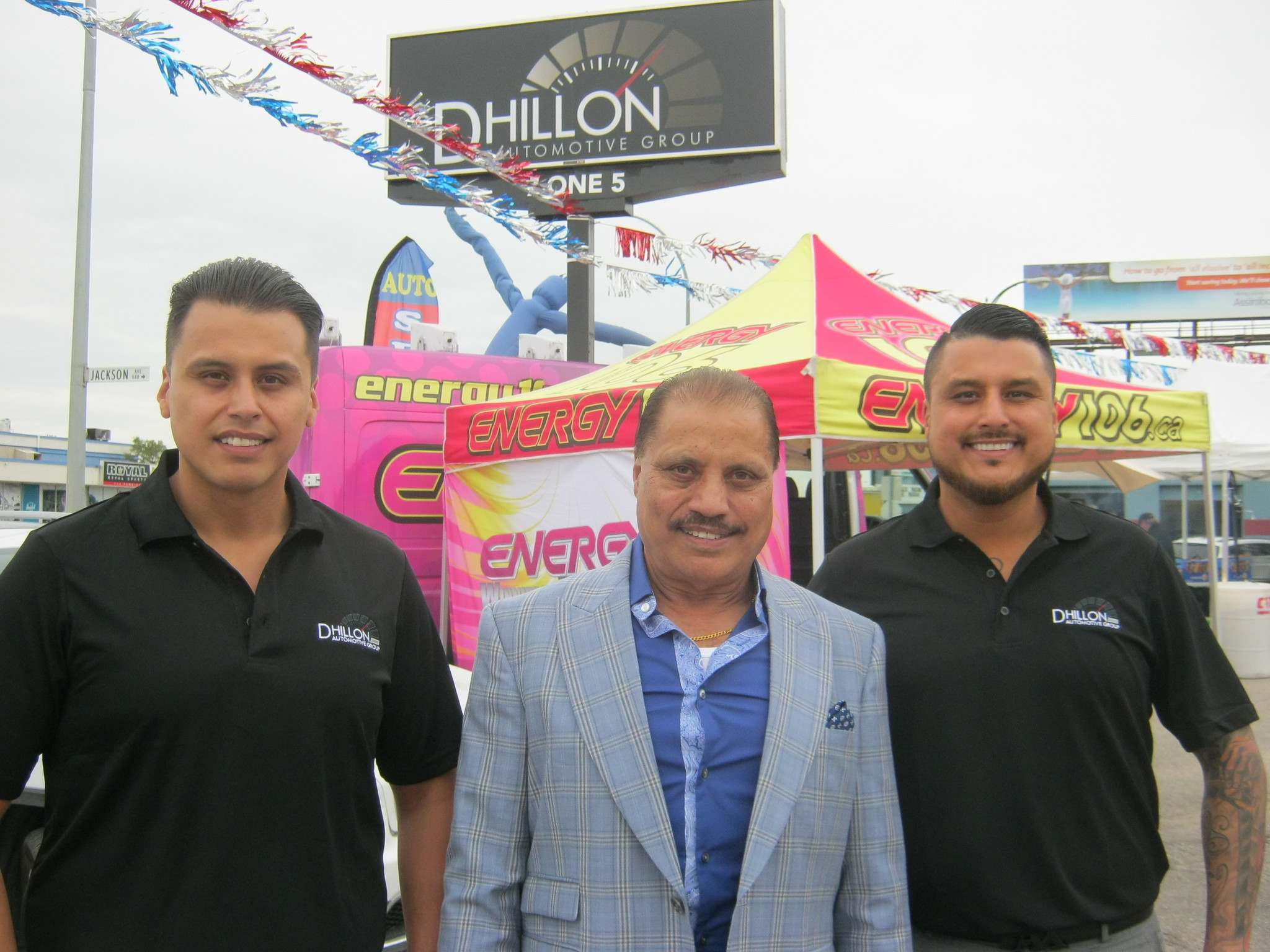 Myron Love / Winnipeg Free PressBava Dhillon, Paul Dhillon and Rocky Dhillon at grand opening for new Dhillon Auto Group store on Pembina Highway.