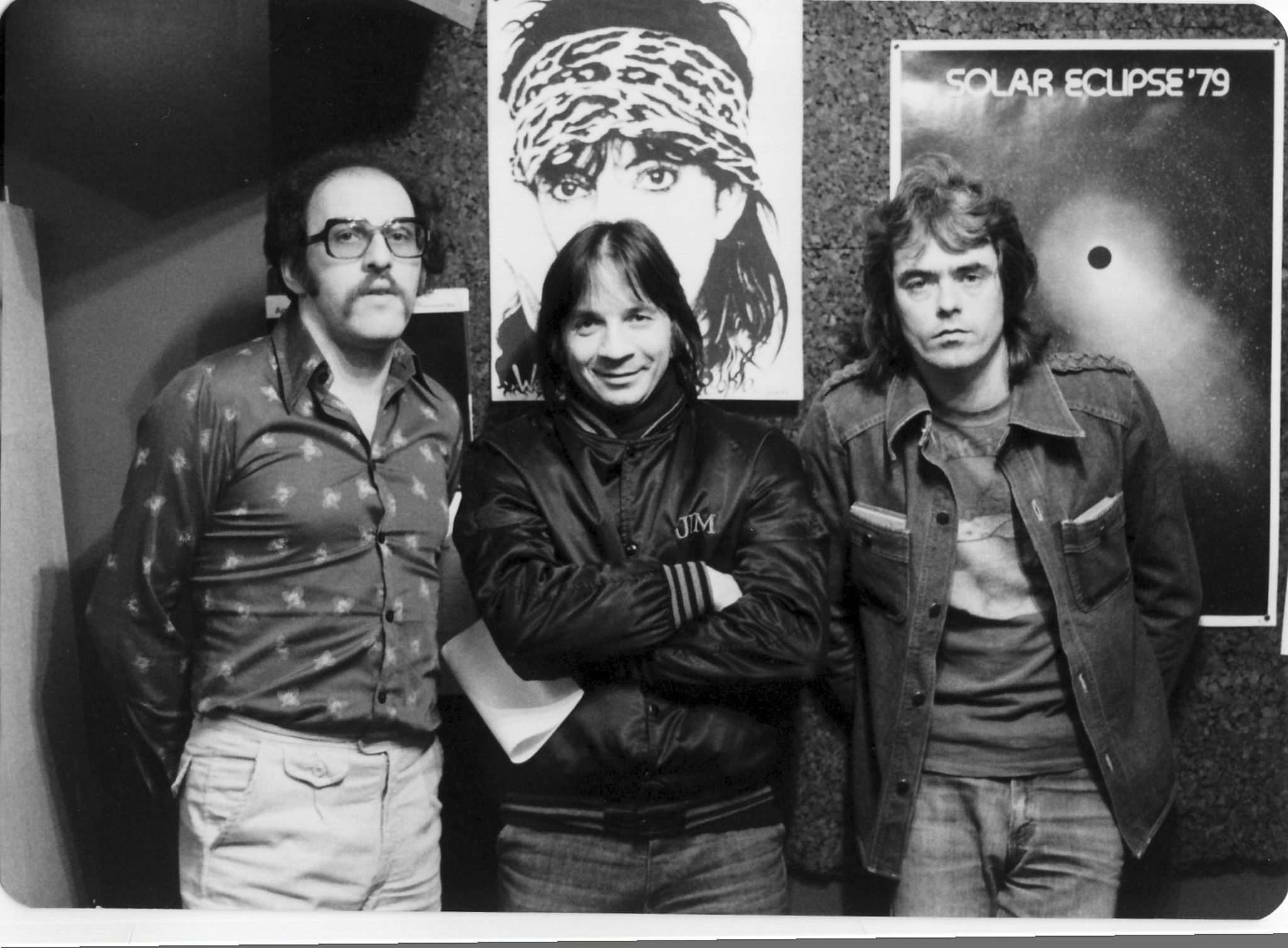 COURTESY DAVE PERICH</p><p>Mandshein with local music icons Jim Kale (left) and Vance Masters.</p>