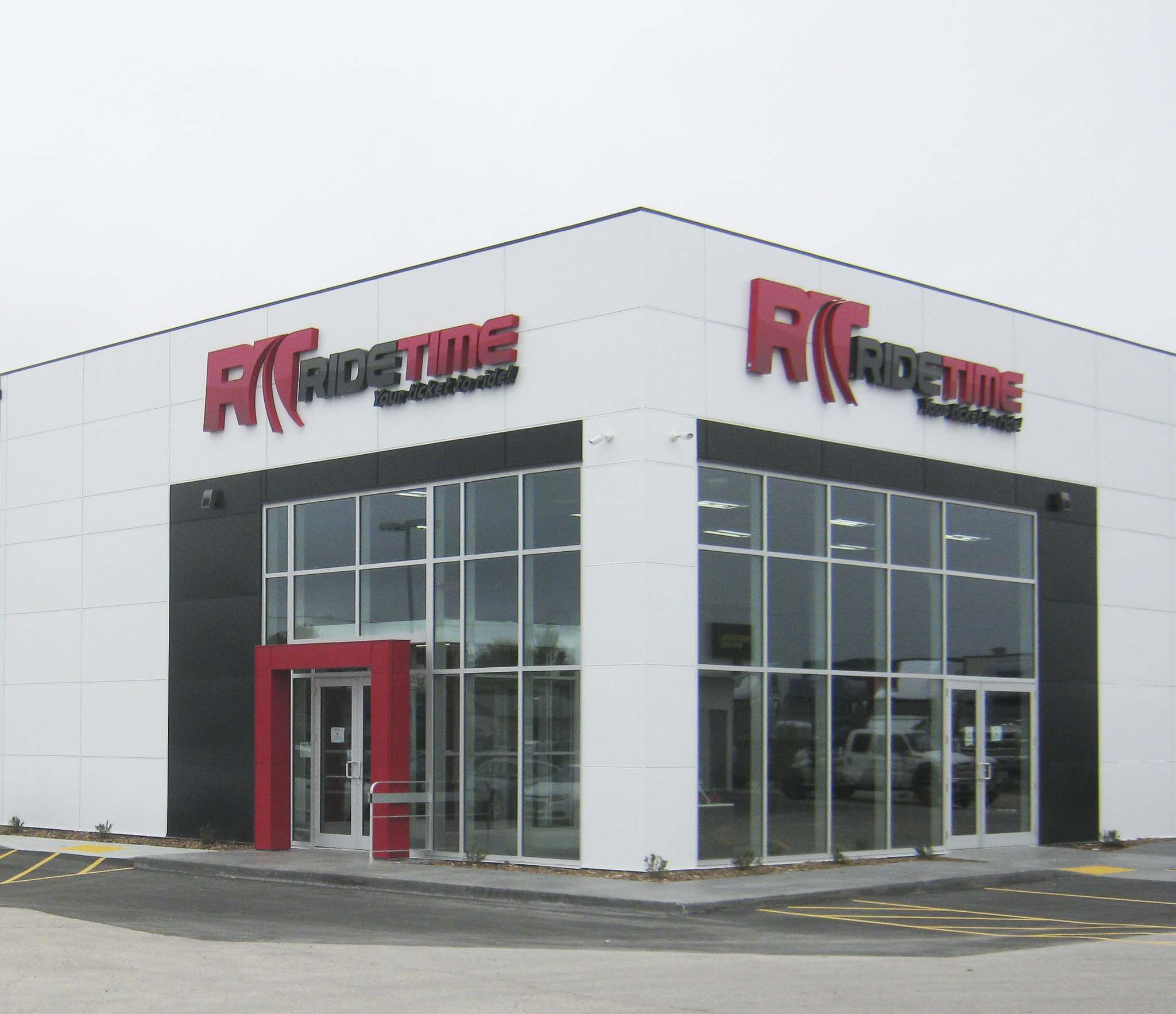 The new Ride Time location at 87 Oak Point Hwy.