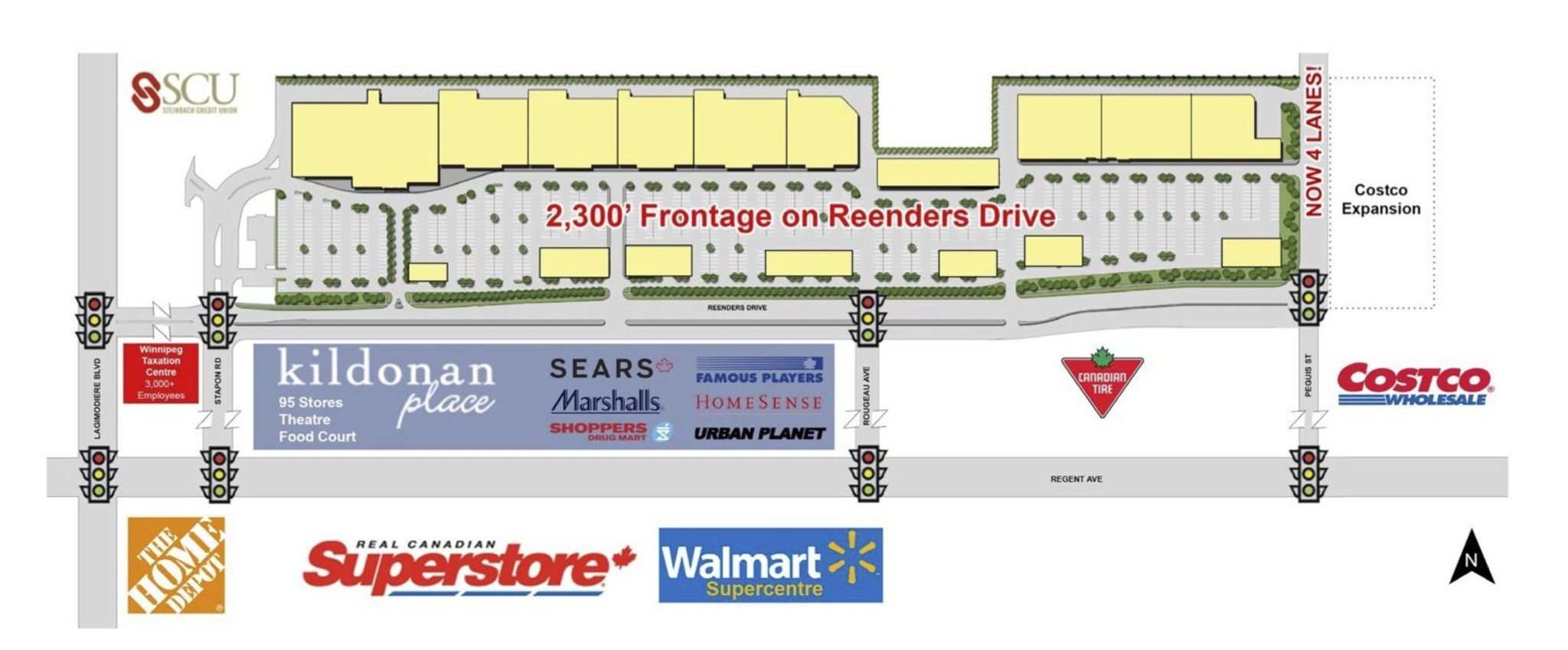 SUPPLIED</p><p>The Shops of Kildonan Mile will be located north of Reenders Drive between Lagimodiere Boulevard and Peguis Street and will offer more than 340,000 square feet of retail space.</p>