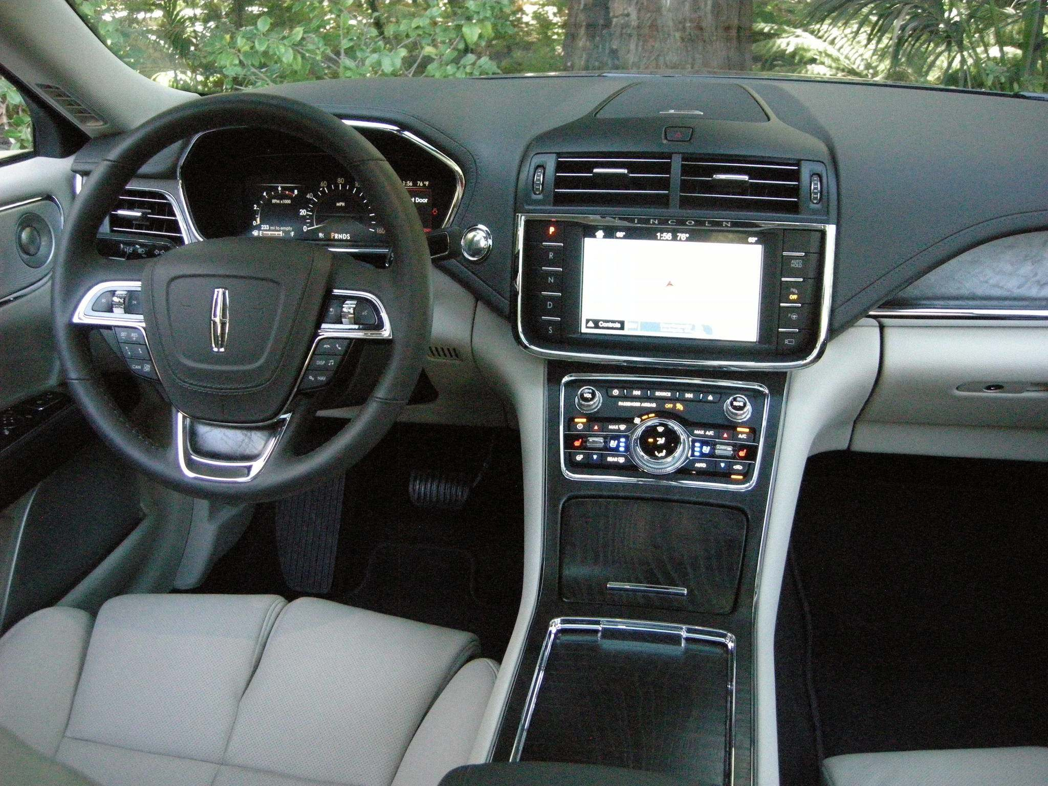 The Lincoln Continental has a bevy of luxury features, including 30-way front seats with massage functions.