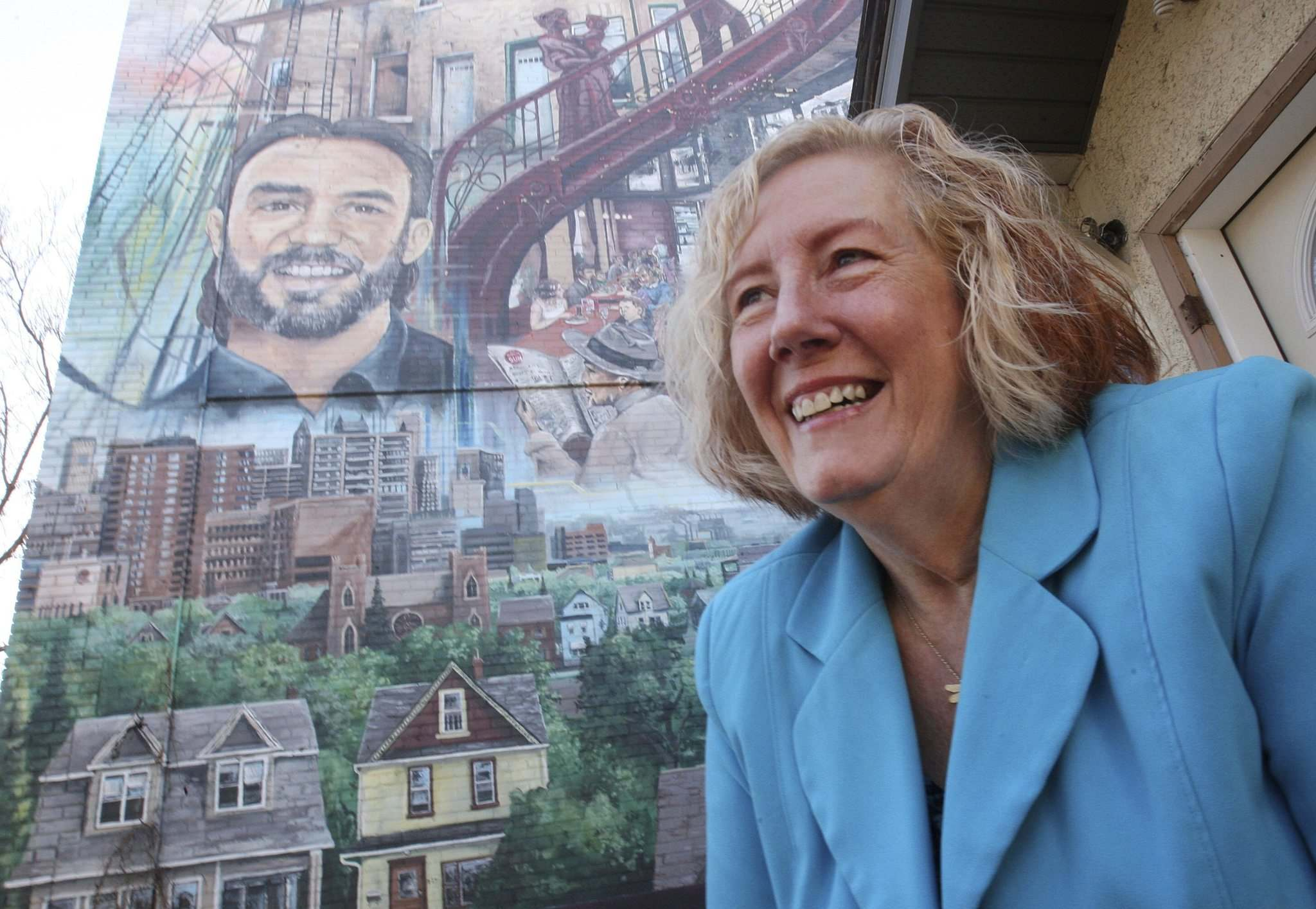 JOE BRYKSA / WINNIPEG FREE PRESS</p><p>Former executive director of the West End BIZ Trudy Turner says Lehotsky loved the mural that features his likeness on Maryland Street. It was the final project Turner completed with Lehotsky.</p>