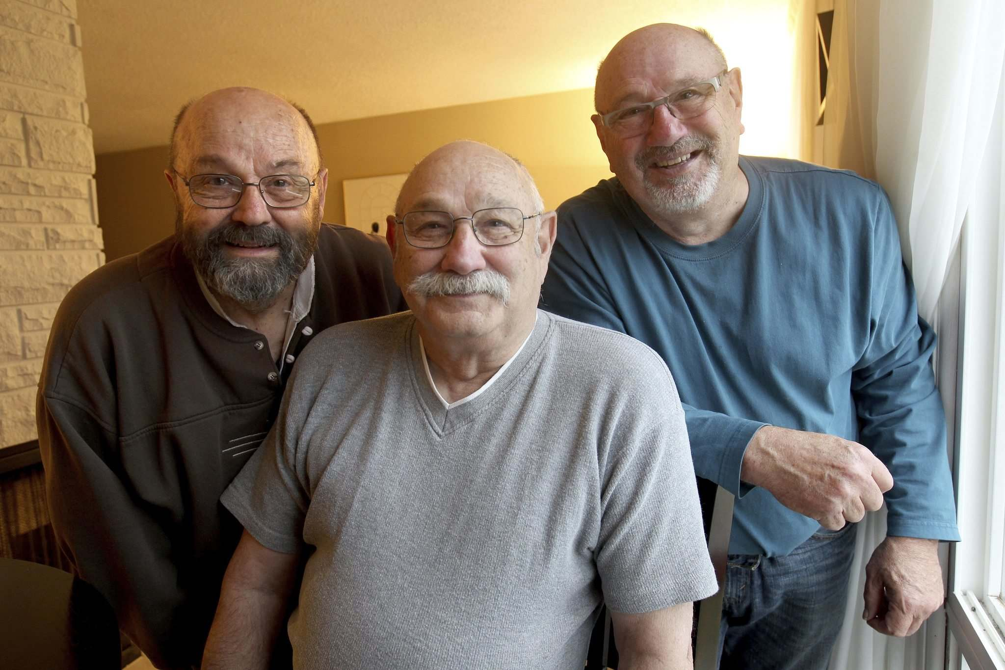 JOE BRYKSA / WINNIPEG FREE PRESS</p><p>The Steiner Brothers — Ron Steiner (from left), Rob and Roy — are now in their 70s. They had a long and successful career as entertainers and rubbed shoulders with some of the world's biggest stars.</p>