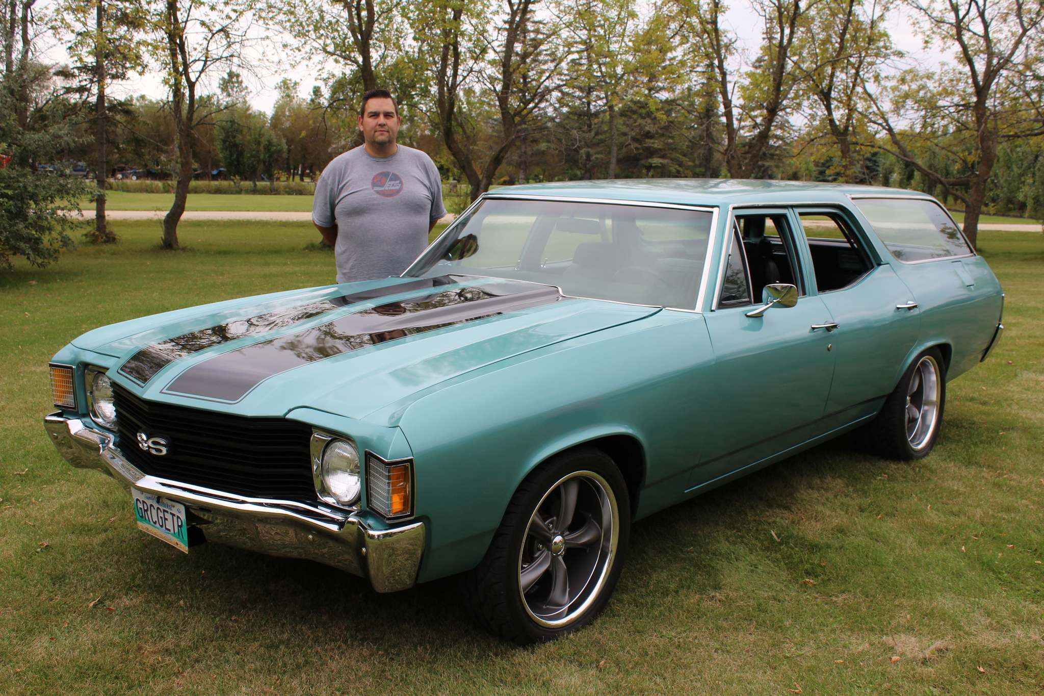 Photos by Larry D'Argis / Winnipeg Free PressIn 2009 Rob Sandul bought a 1972 Chevelle station wagon, which he got shipped from Santa Clara, Calif., to Pembina, N.D., before driving its new home to Manitoba.