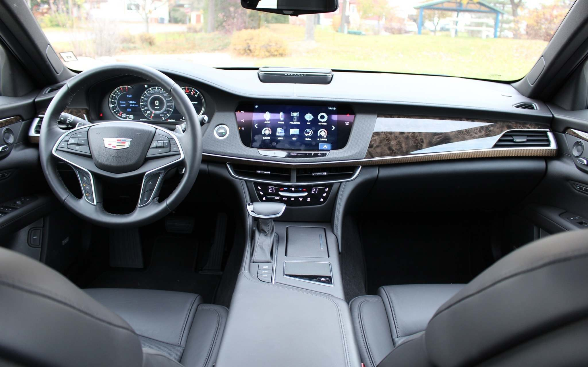 Inside, the 2016 Cadillac CT6's fit and finish is swell. The overall design is simple and elegant.