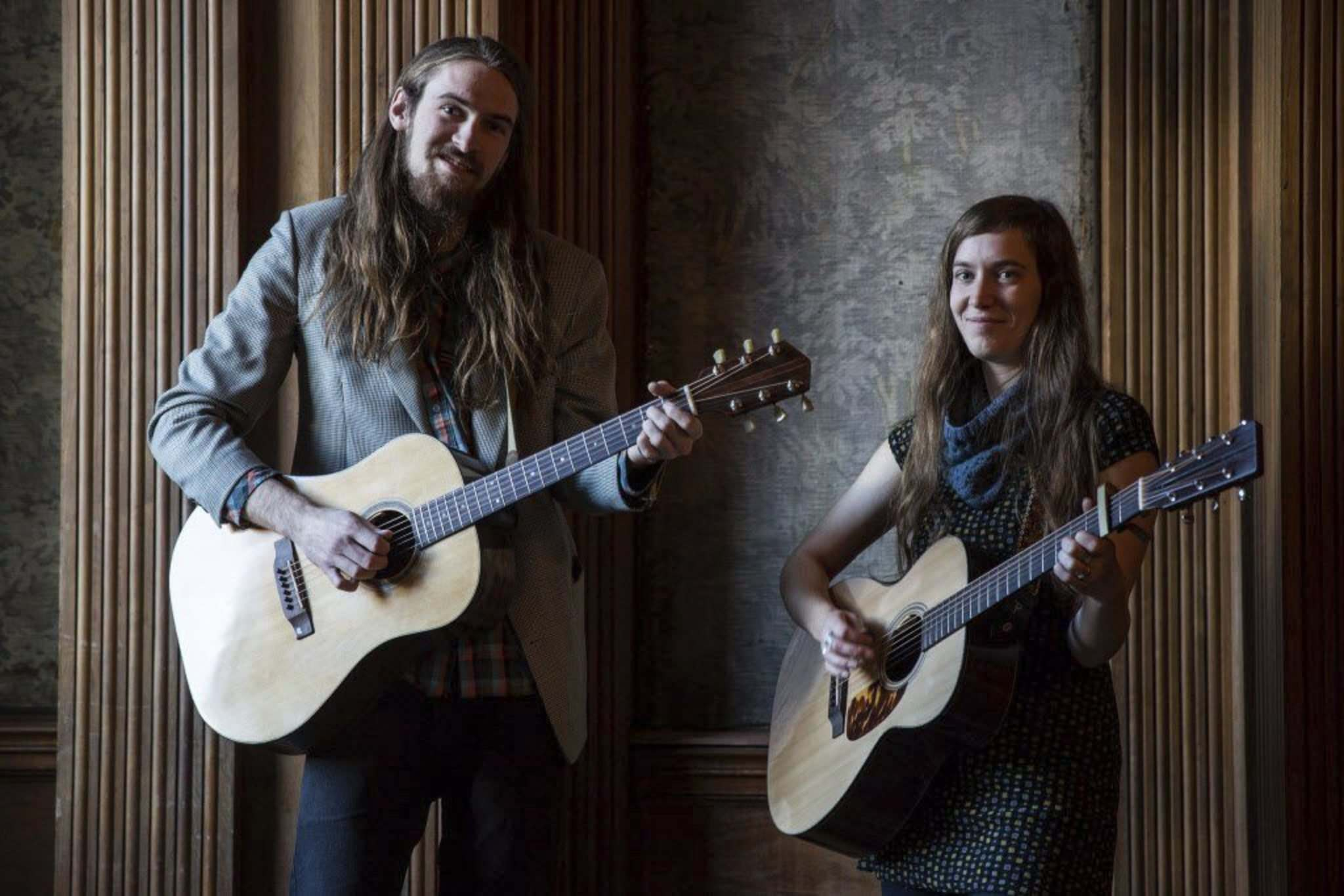 MIKE DEAL / WINNIPEG FREE PRESS FILE</p><p>Twins and bandmates Lucas and Madeleine Roger make up the folk group Roger Roger.</p></p>