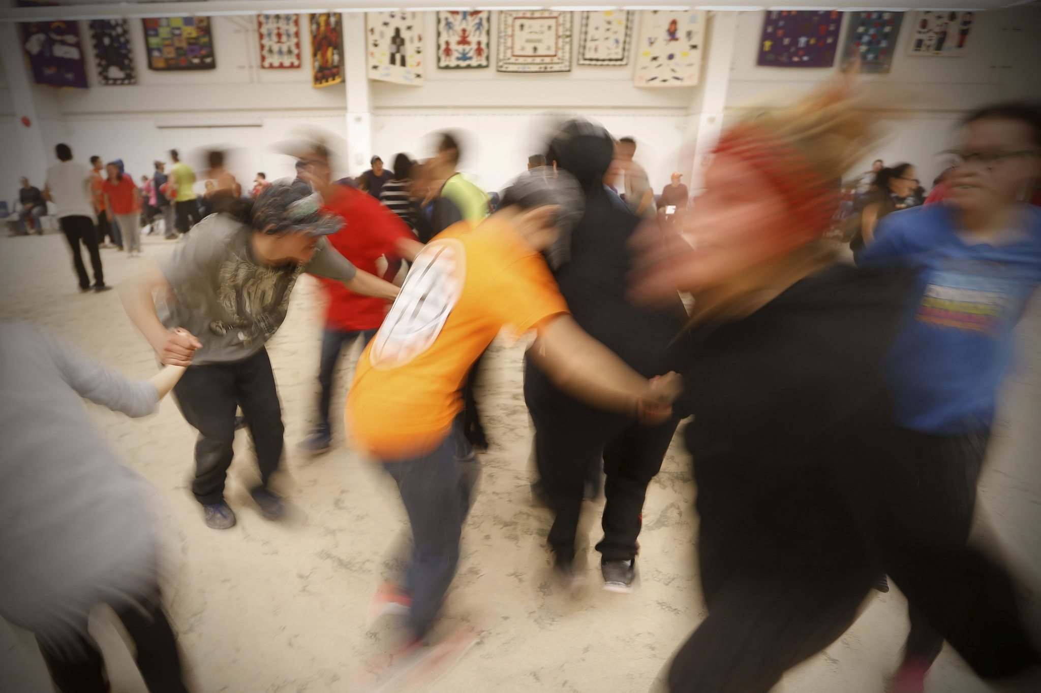 JOHN WOODS / WINNIPEG FREE PRESS</p><p>Baker Lake will hold a community dance at the drop of a hat, and the stamina of the dancers and musicians is nothing short of astounding.</p></p>