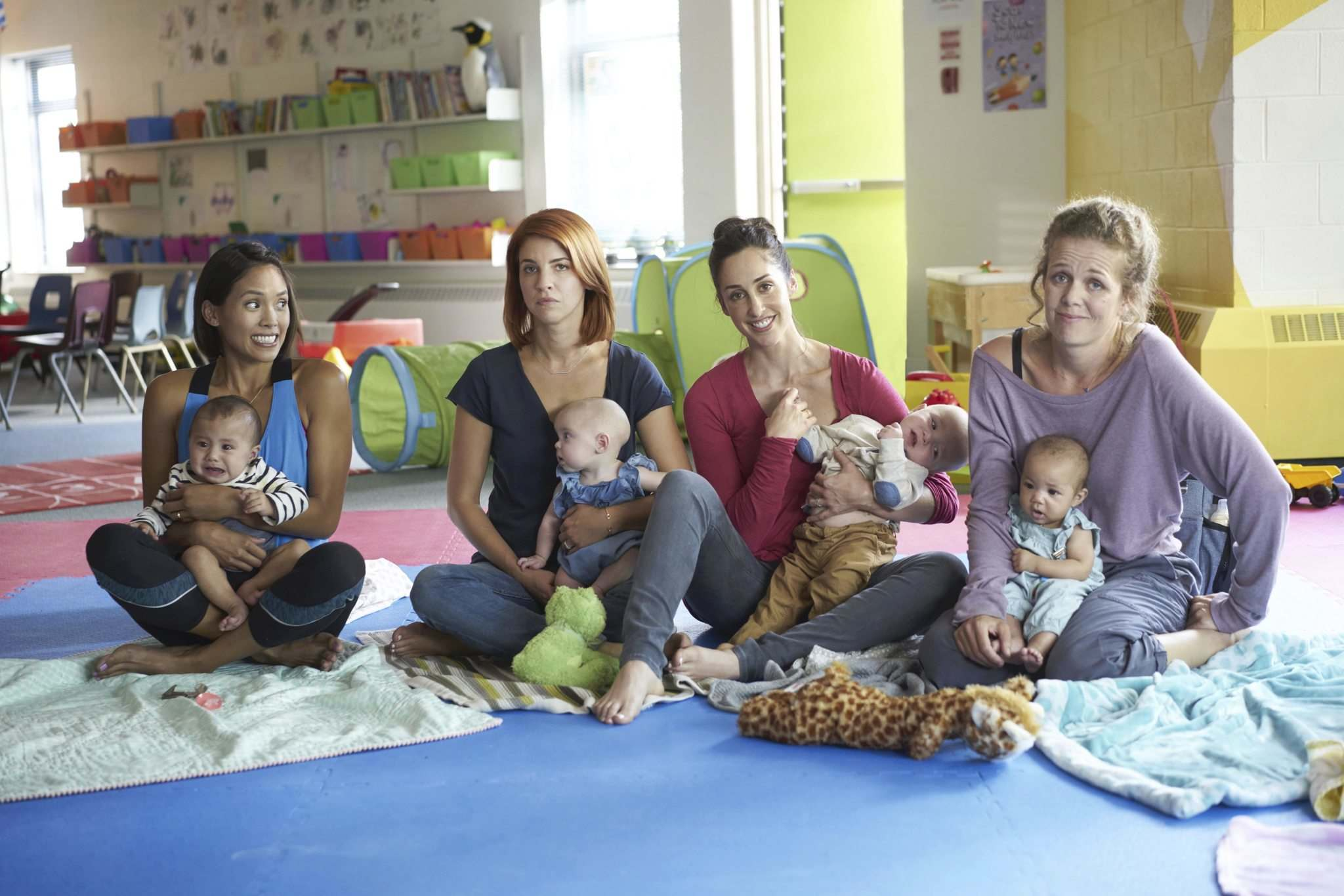 Submitted</p><p>Jessalyn Wanlim, Dani Kind, Catherine Reitman and Juno Rinaldi play smart young mothers who share their issues in the new CBC comedy, Workin' Moms.</p>