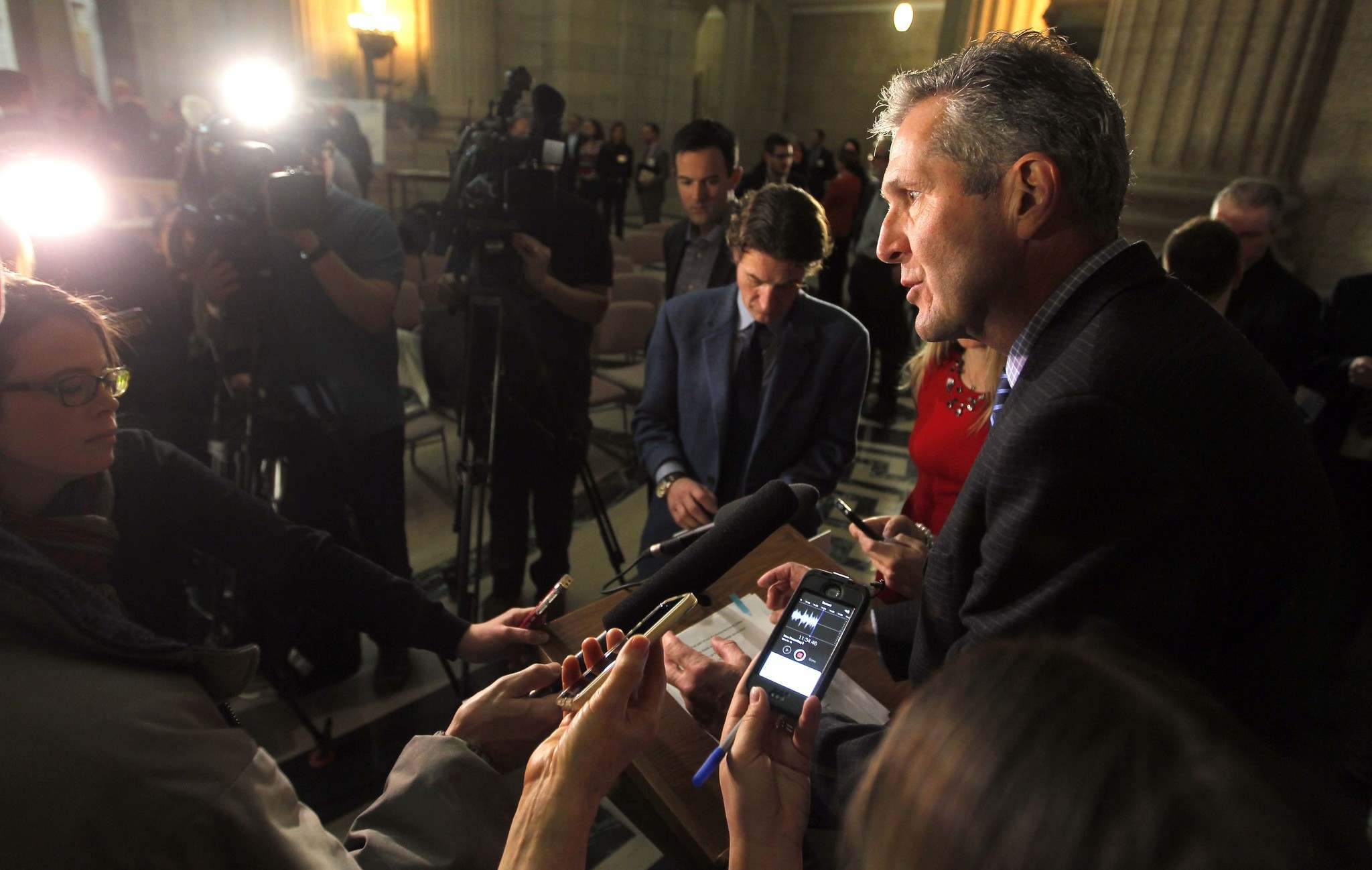 BORIS MINKEVICH / WINNIPEG FREE PRESS</p><p>Premier Brian Pallister: 'If I leave politics with my family intact, I'll probably be doing better than three-quarters of the members of parliament and MLAs across the country'</p>