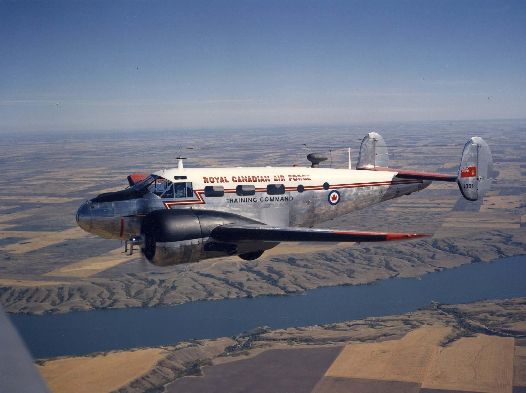 The C-45 Expeditor was a favourite training aircraft for the RCAF in the years after the Second World War.</p>