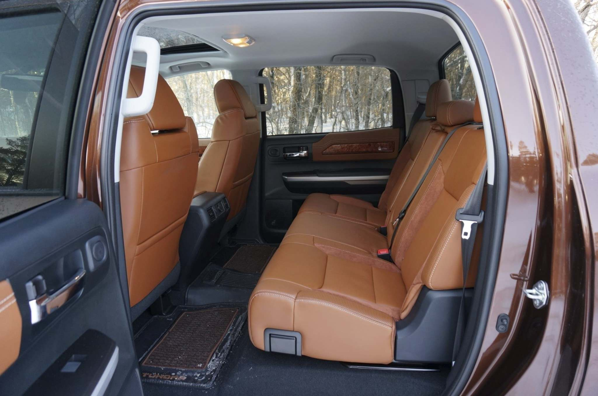 Haney Louka / Winnipeg Free PressThe CrewMax adds nearly 200 millimetres of rear-seat leg room to the DoubleCab: think living room on wheels.