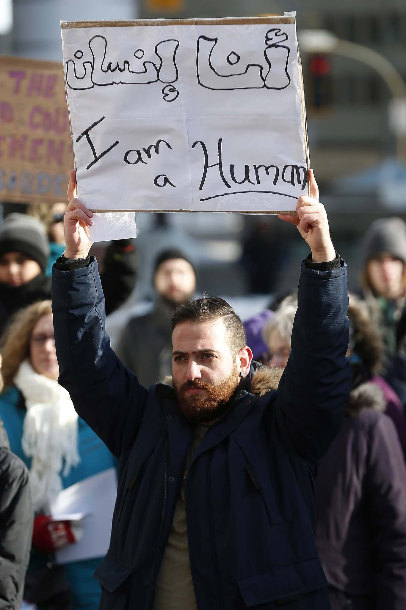 <p>People gathered on Friday, in downtown Winnipeg to encourage Mayor Brian Bowman to make Winnipeg a sanctuary city for undocumented migrants.</p>