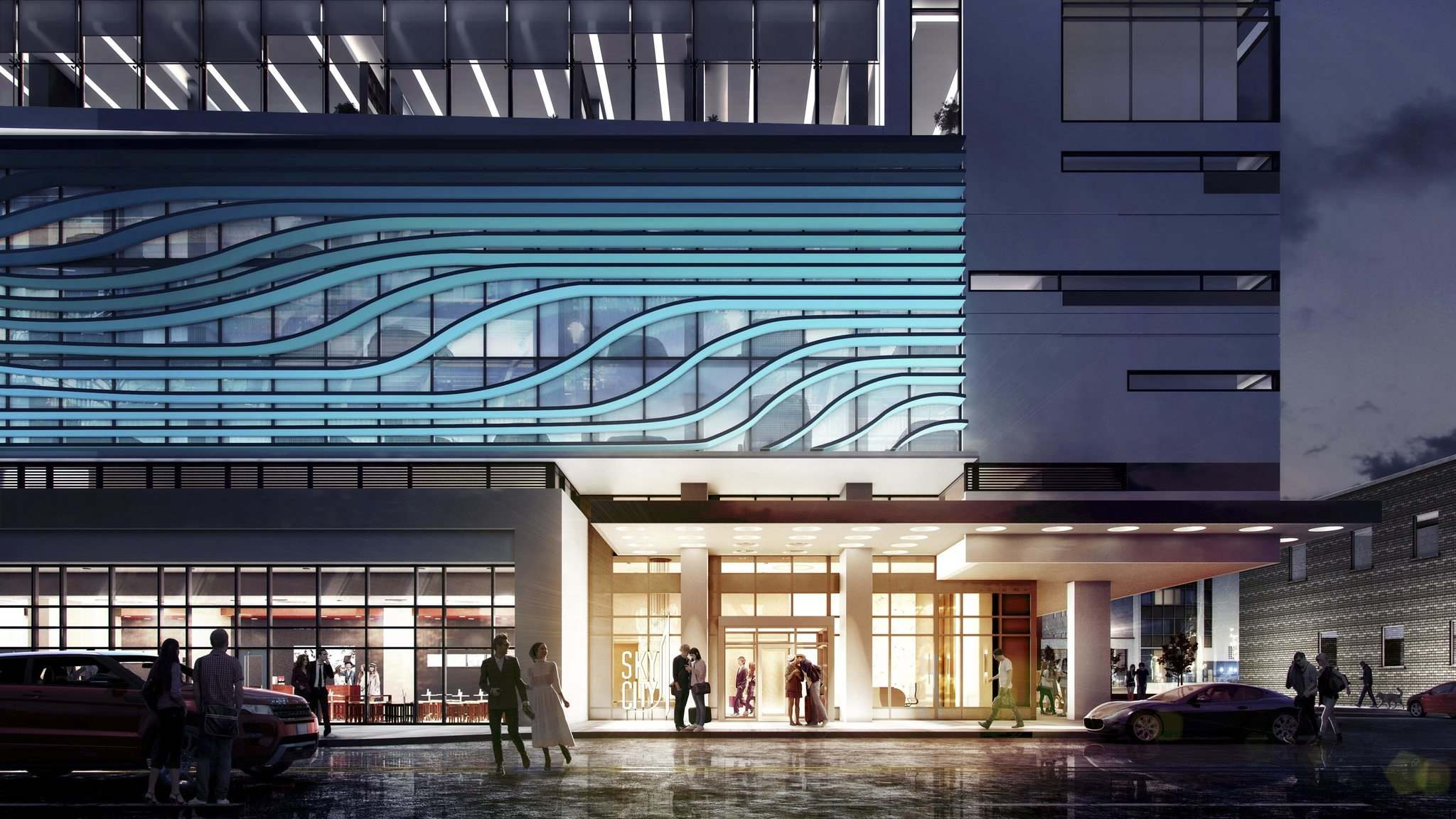 Supplied</p><p>SkyCity Centre will include retail space on the ground floor.</p>