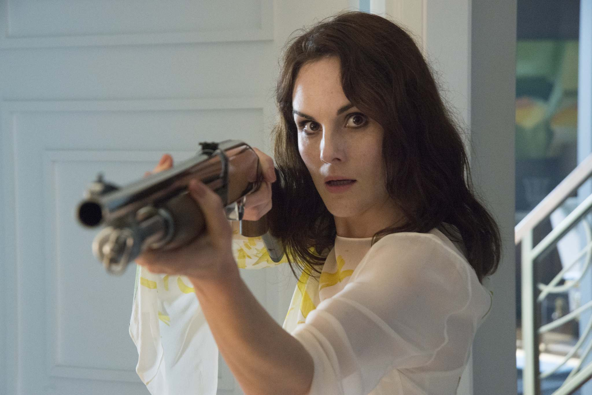 Brownie Harris / TNT </p><p>Michelle Dockery plays Letty Raines, a recovering alcohol and drug addict, in the drama series Good Behavior.</p></p>