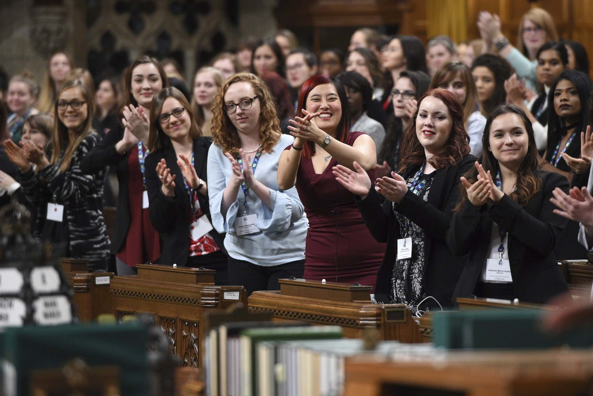 SEAN KILPATRICK / THE CANADIAN PRESS FILES</p><p>A Daughters of the Vote event, organized by Equal Voice Canada, took place in the House of Commons in Ottawa on March 8.</p>
