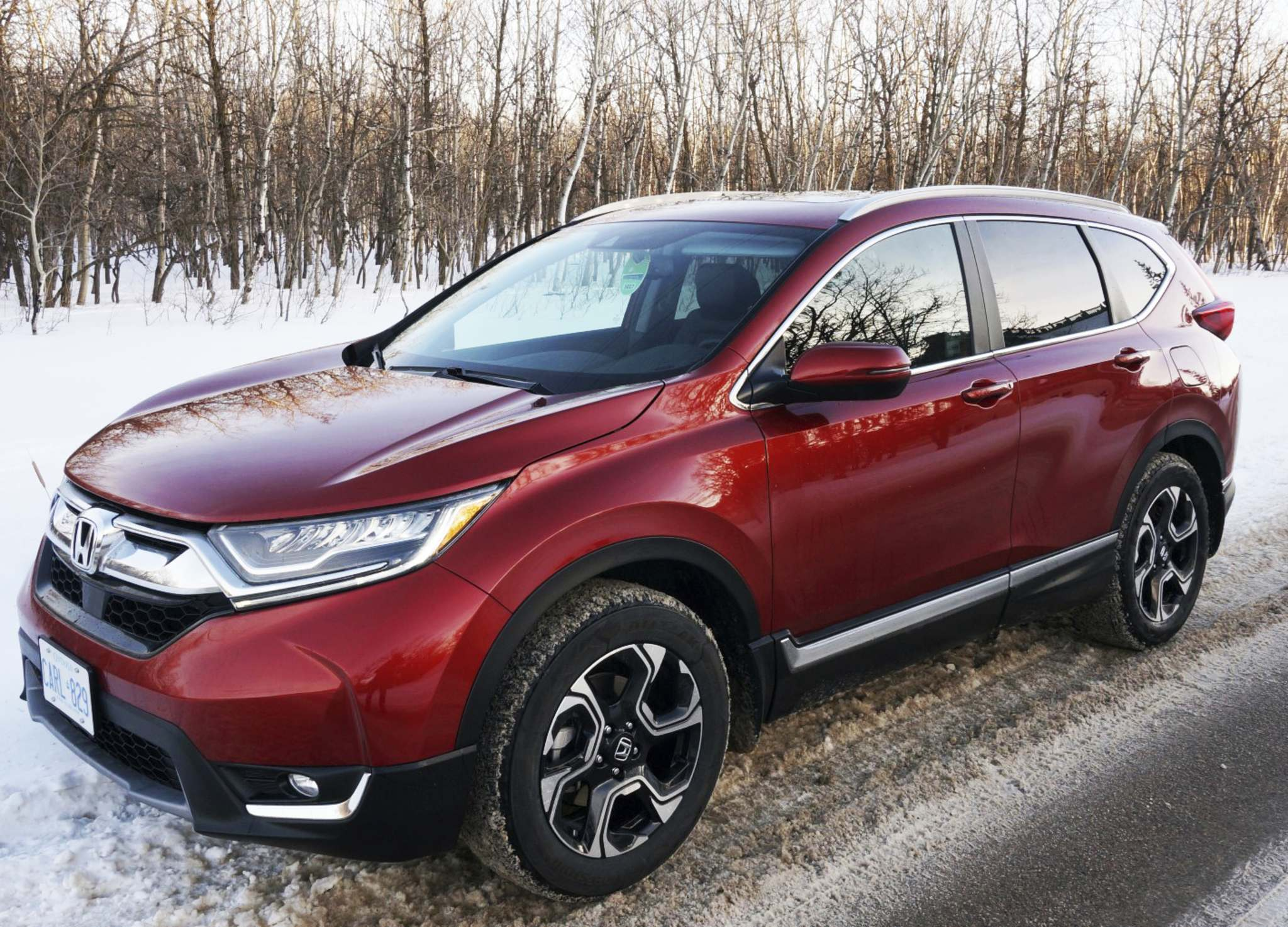 The Honda CR-V Touring is reinvented with a beefier, more refined look, which also makes it the biggest of the bunch.