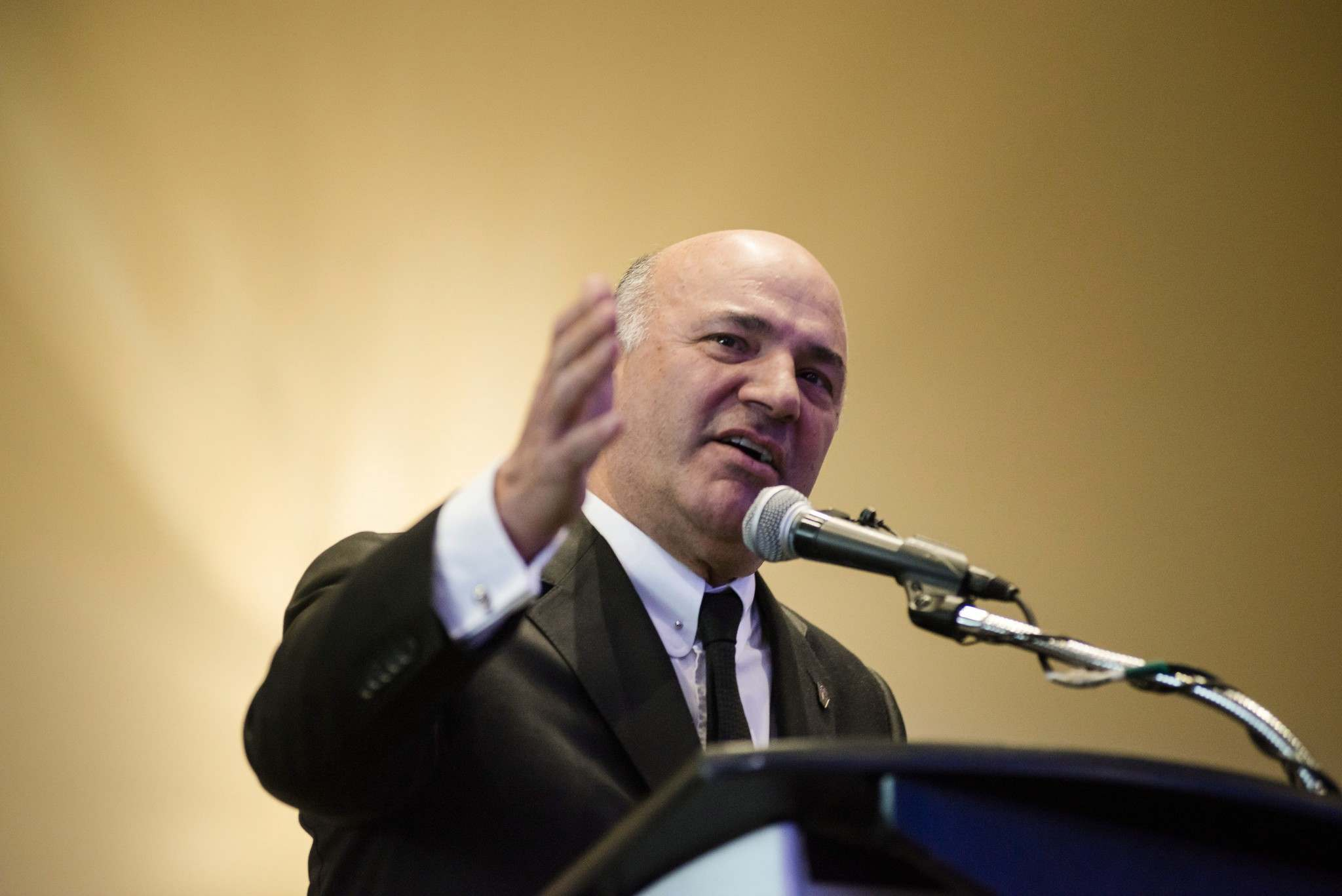 Christopher Katsarov / THE CANADIAN PRESS FILES</p><p>Conservative leadership candidate Kevin O&#39;Leary was to have attended an event in Winnipeg but &mdash; for whatever reason &mdash; couldn&#39;t make the trip.</p></p>