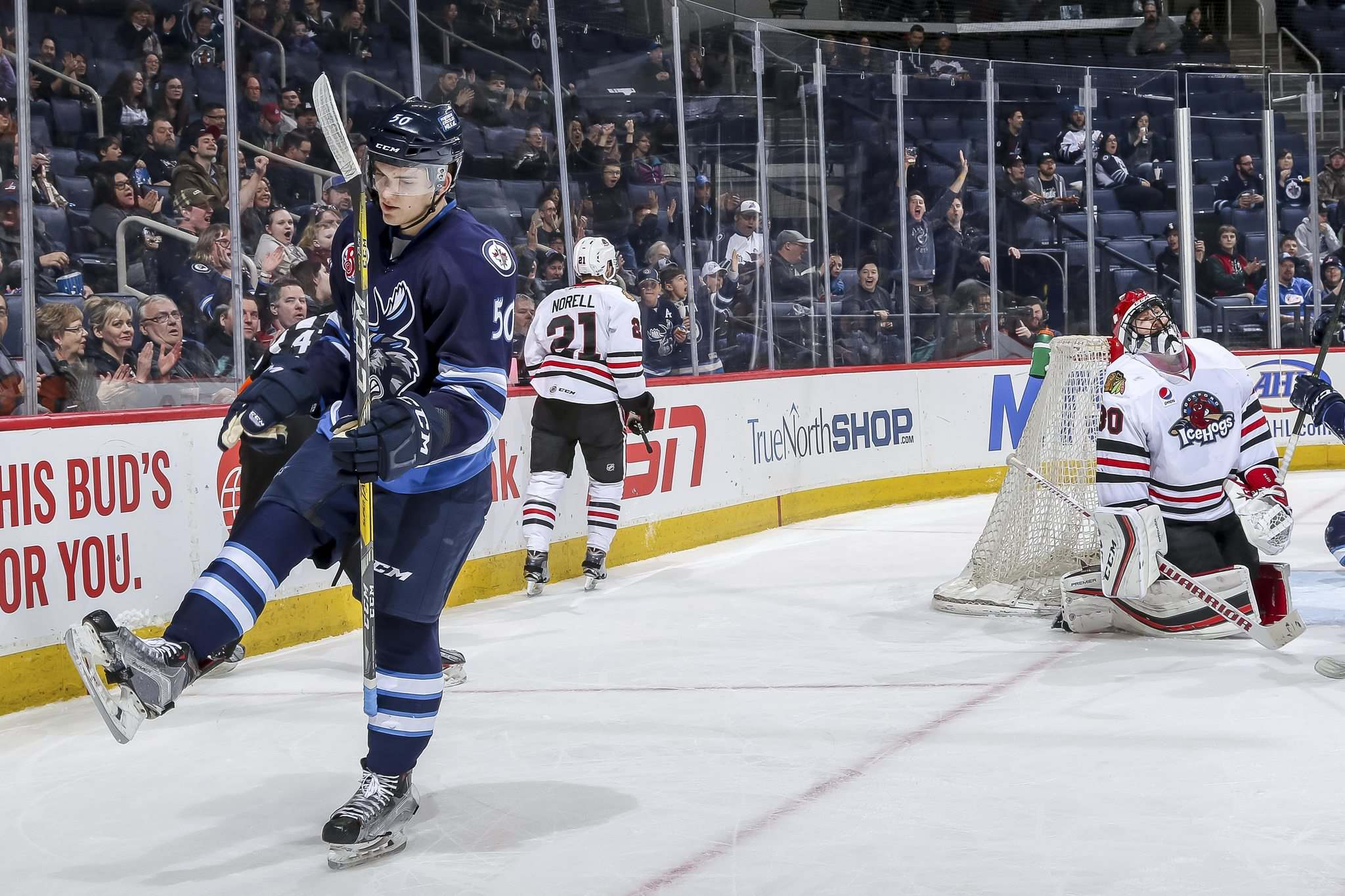 Jonathan Kozub / Manitoba Moose</p><p>Jack Roslovic had a three-point outing Saturday against the Rockford IceHogs. He leads the Manitoba Moose in scoring this season with 12 goals and 28 assists.</p></p>
