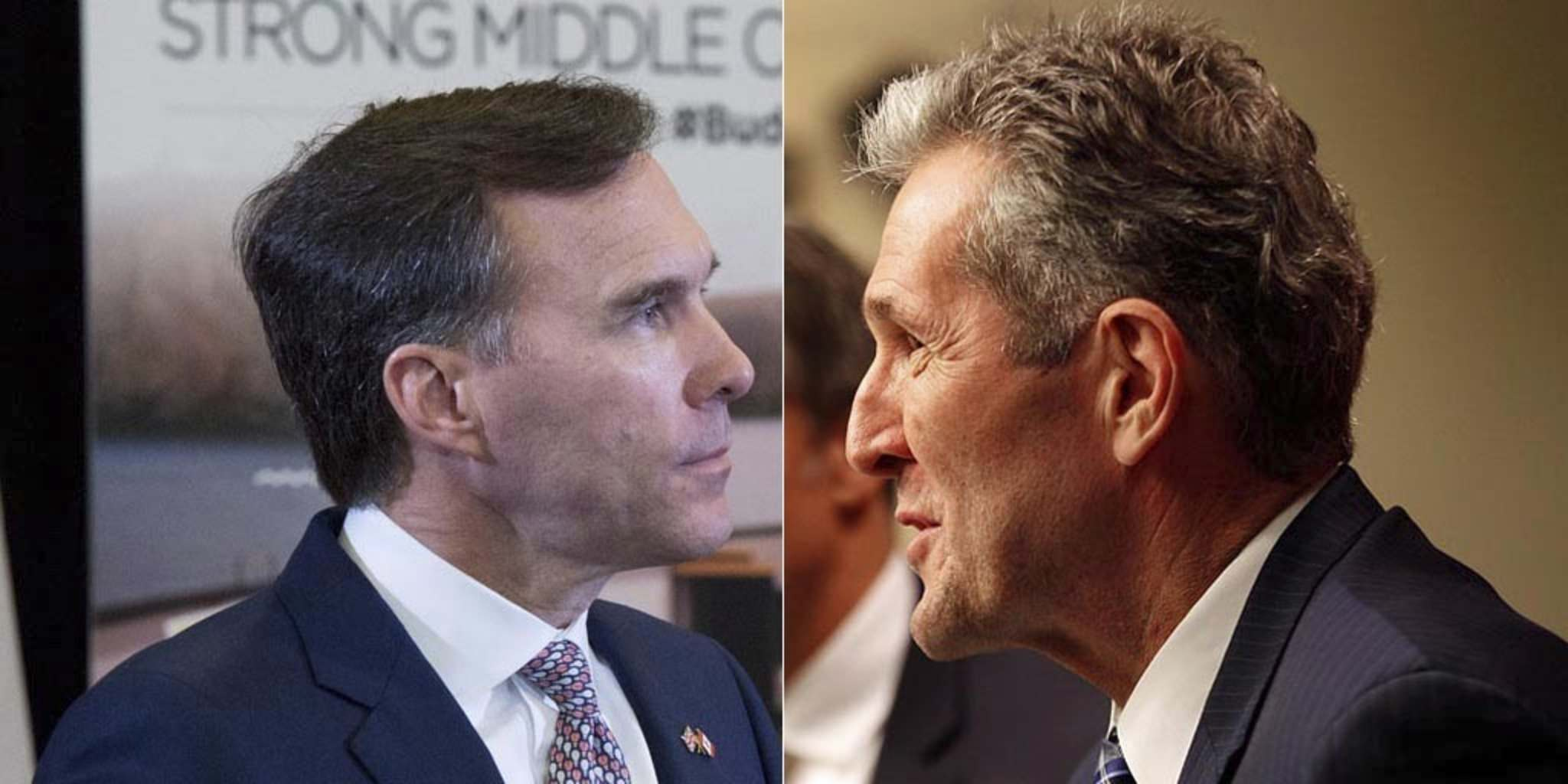 JUSTIN TANG / THE CANADIAN PRESS AND PHIL HOSSACK / WINNIPEG FREE PRESS</p><p>Federal Finance Minister Bill Morneau and Premier Brian Pallister appear to have a frosty relationship.</p>