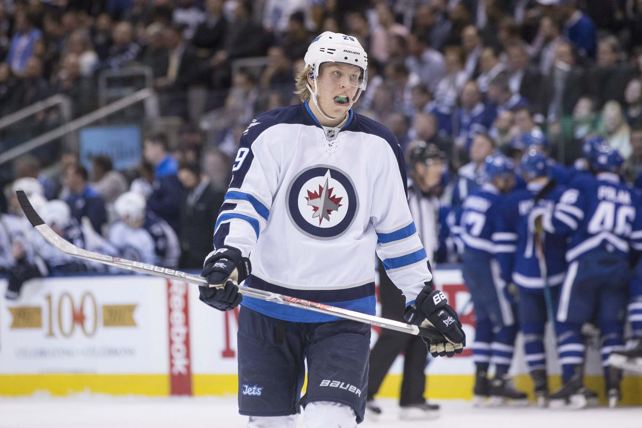 Patrik Laine and his teammates still have to vote on the NHL's return plan. (Chris Young / The Canadian Press files)