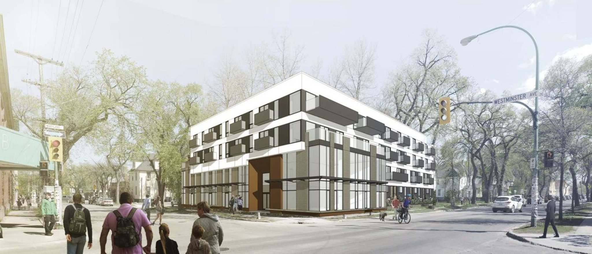 SUPPLIED</p><p>An artist&rsquo;s rendering of the new apartment building at 710 Westminister Ave.</p>