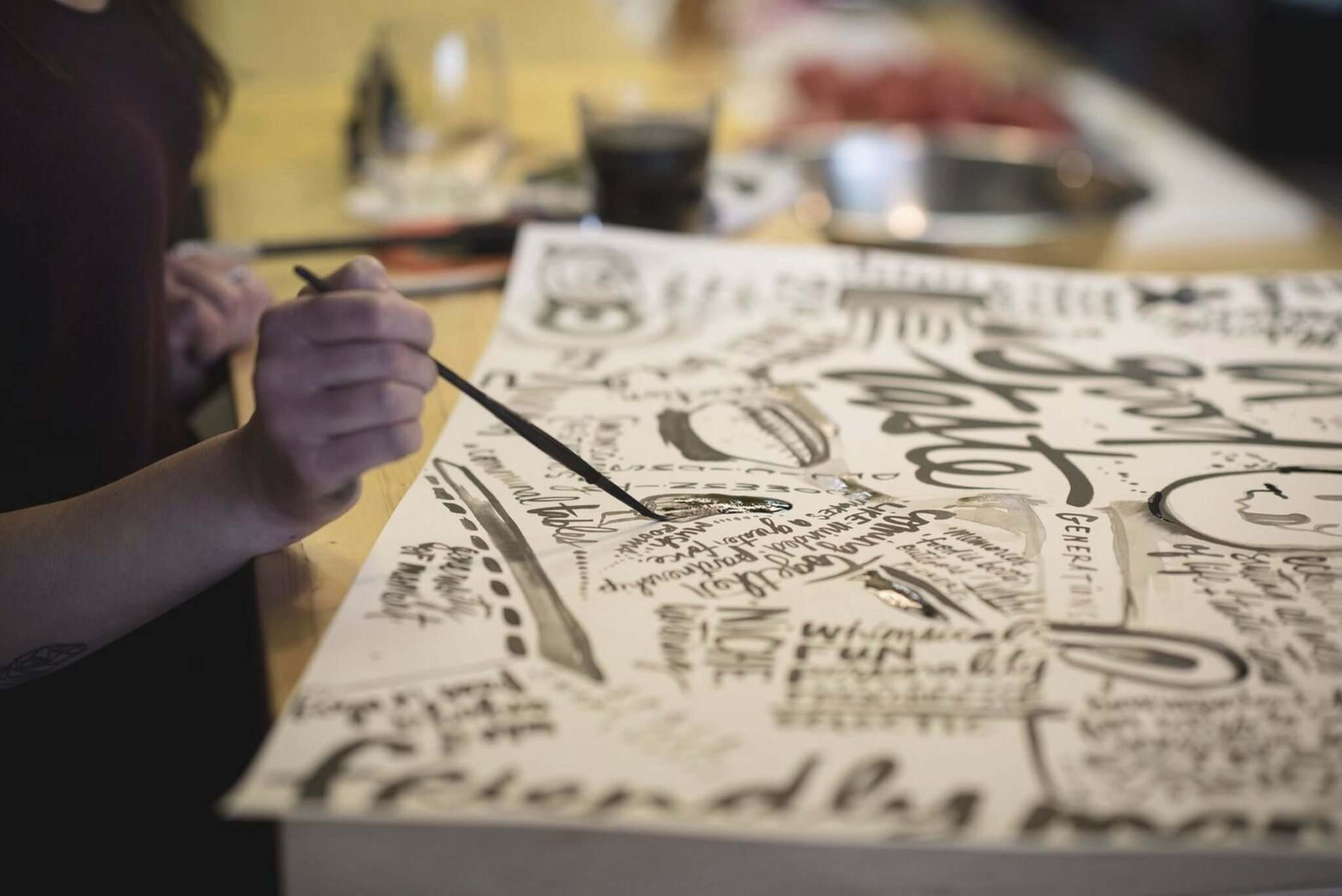 For each session, artist Kal Barteski creates a piece of work that features key ideas arising from the discussion.