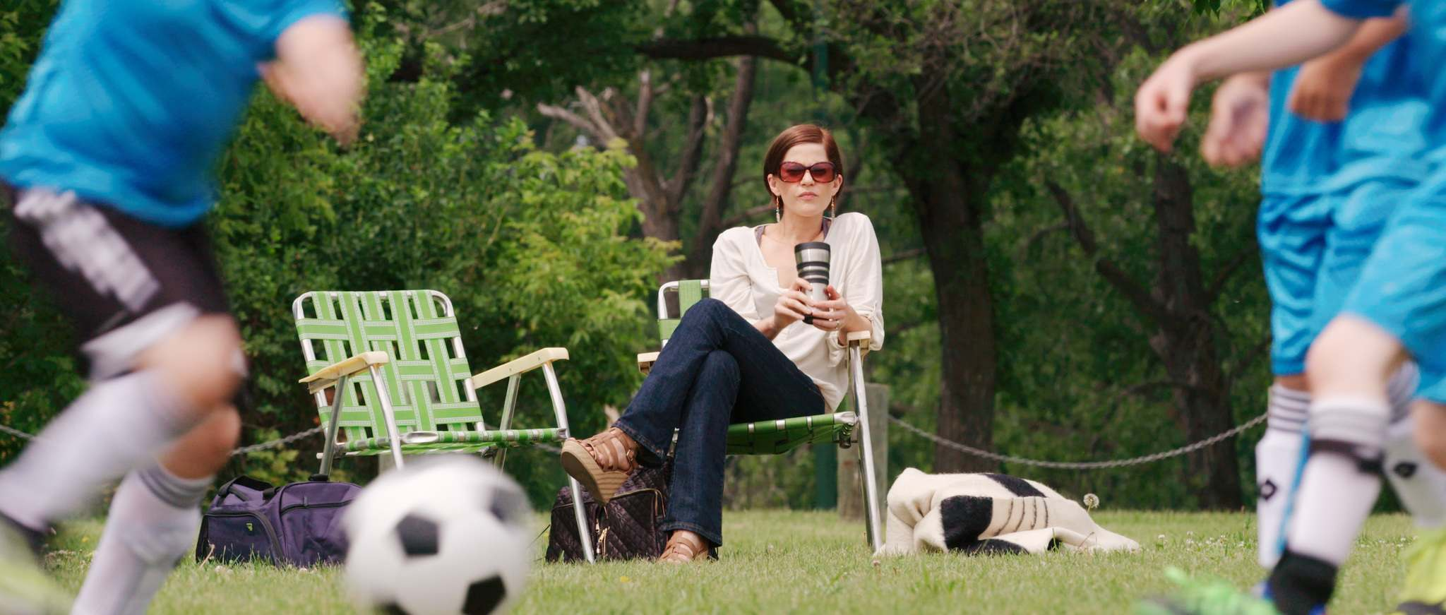 Manitoba-born actress Tammy Gillis plays restless soccer mom Claire. (Supplied)</p>
